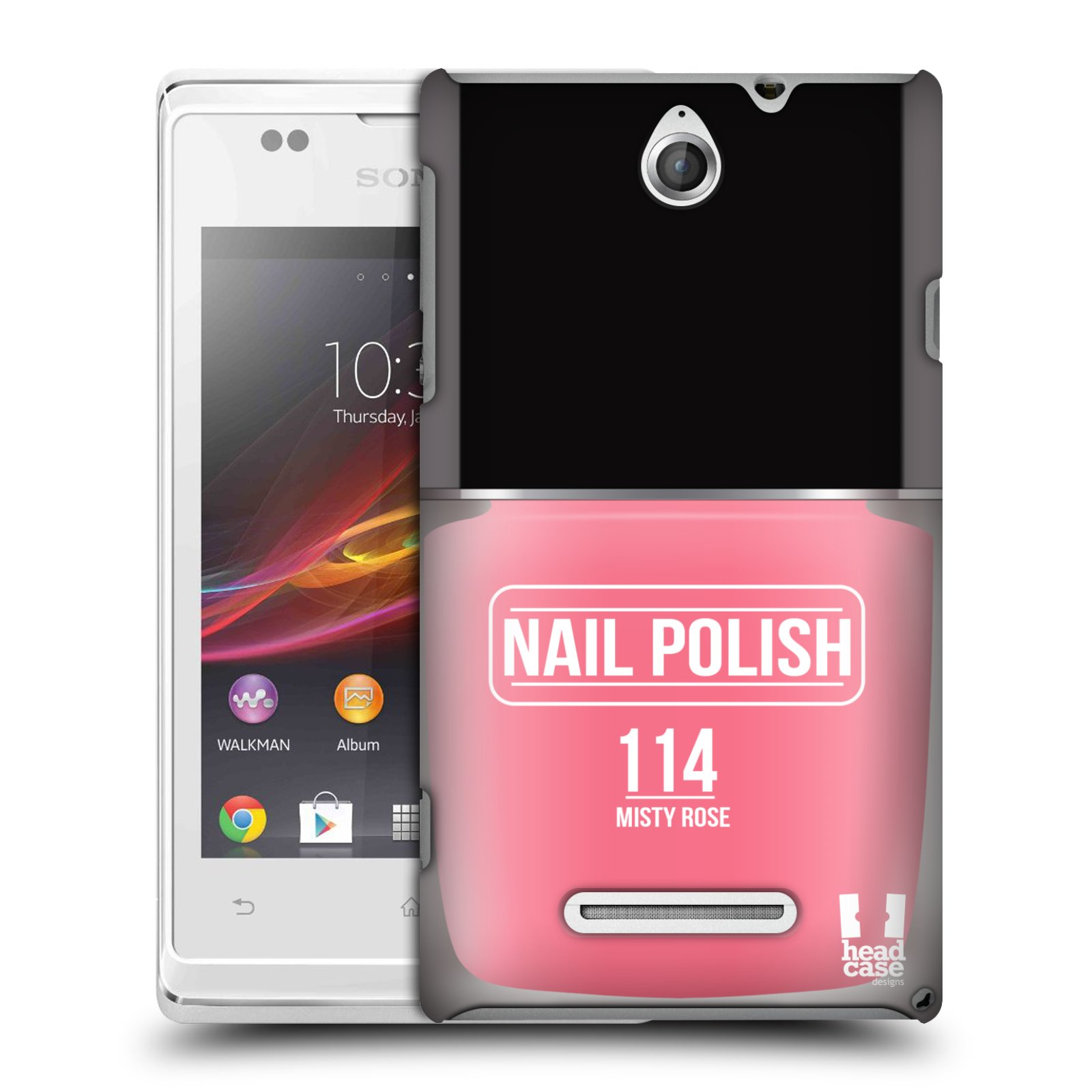 HEAD CASE DESIGNS NAIL POLISH CASE COVER FOR SONY XPERIA E DUAL C1605 C1505