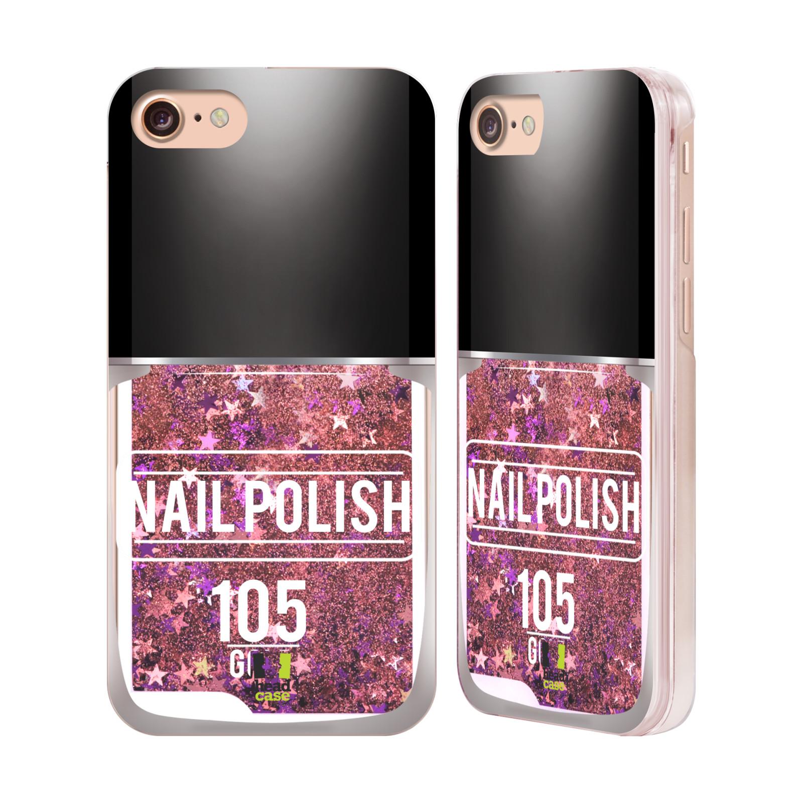 Marble Nail Polish Phone Case: HEAD CASE DESIGNS NAIL POLISH PINK LIQUID GLITTER CASE