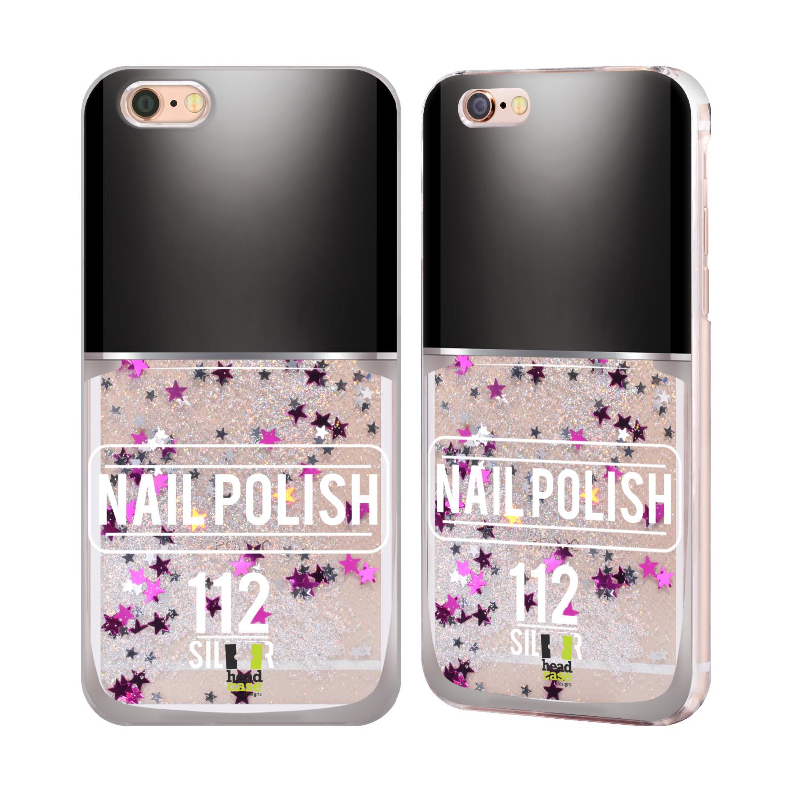 Marble Nail Polish Phone Case: HEAD CASE NAIL POLISH SILVER LIQUID GLITTER CASE FOR APPLE