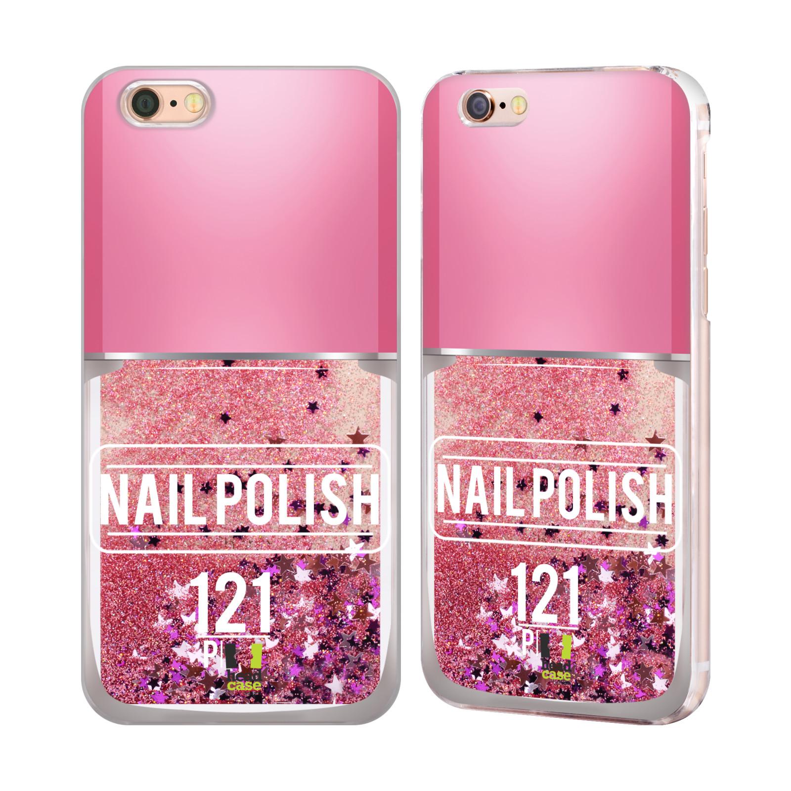 Marble Nail Polish Phone Case: HEAD CASE DESIGNS NAIL POLISH PINK GLITTER CASE FOR APPLE