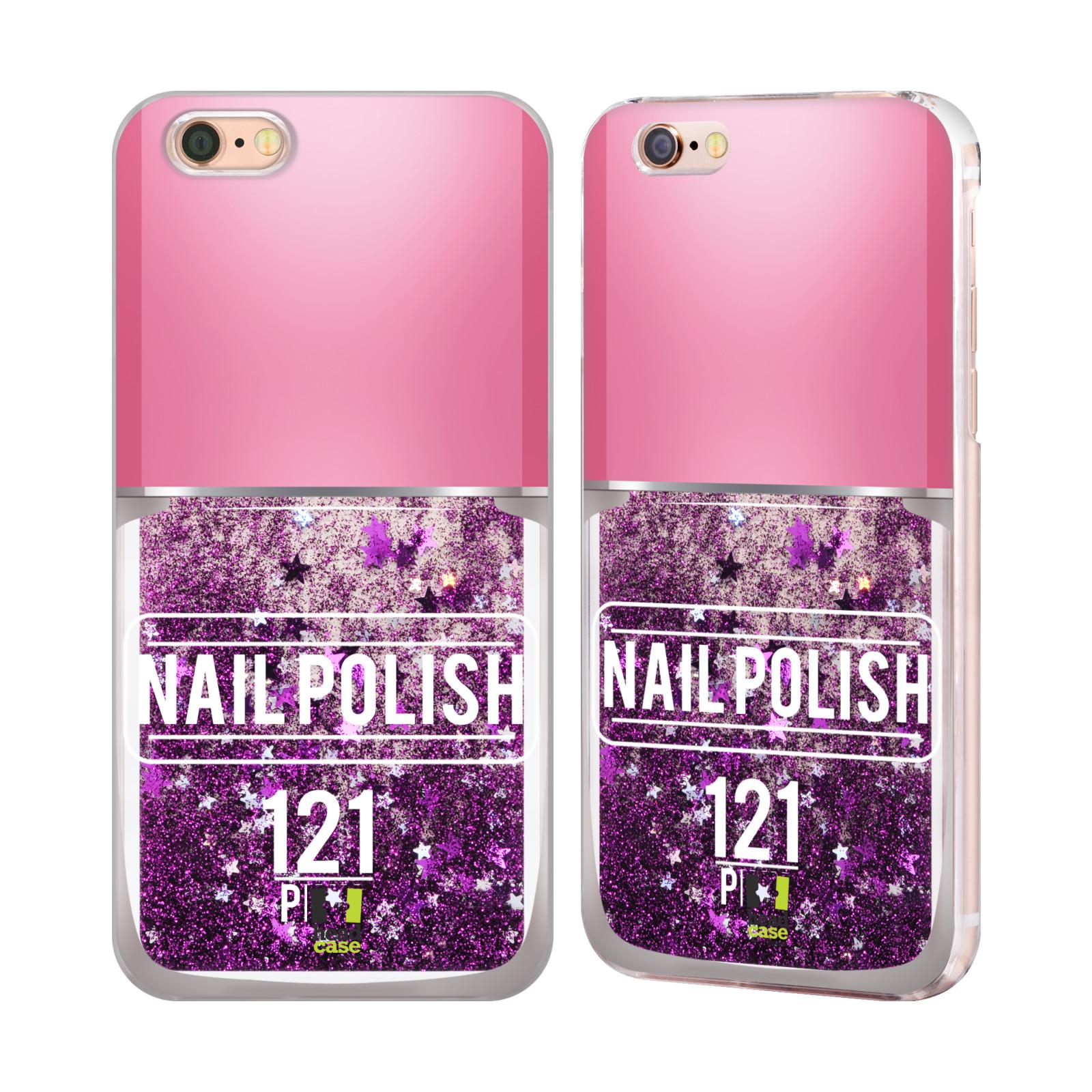 Marble Nail Polish Phone Case: HEAD CASE NAIL POLISH PURPLE LIQUID GLITTER CASE FOR APPLE