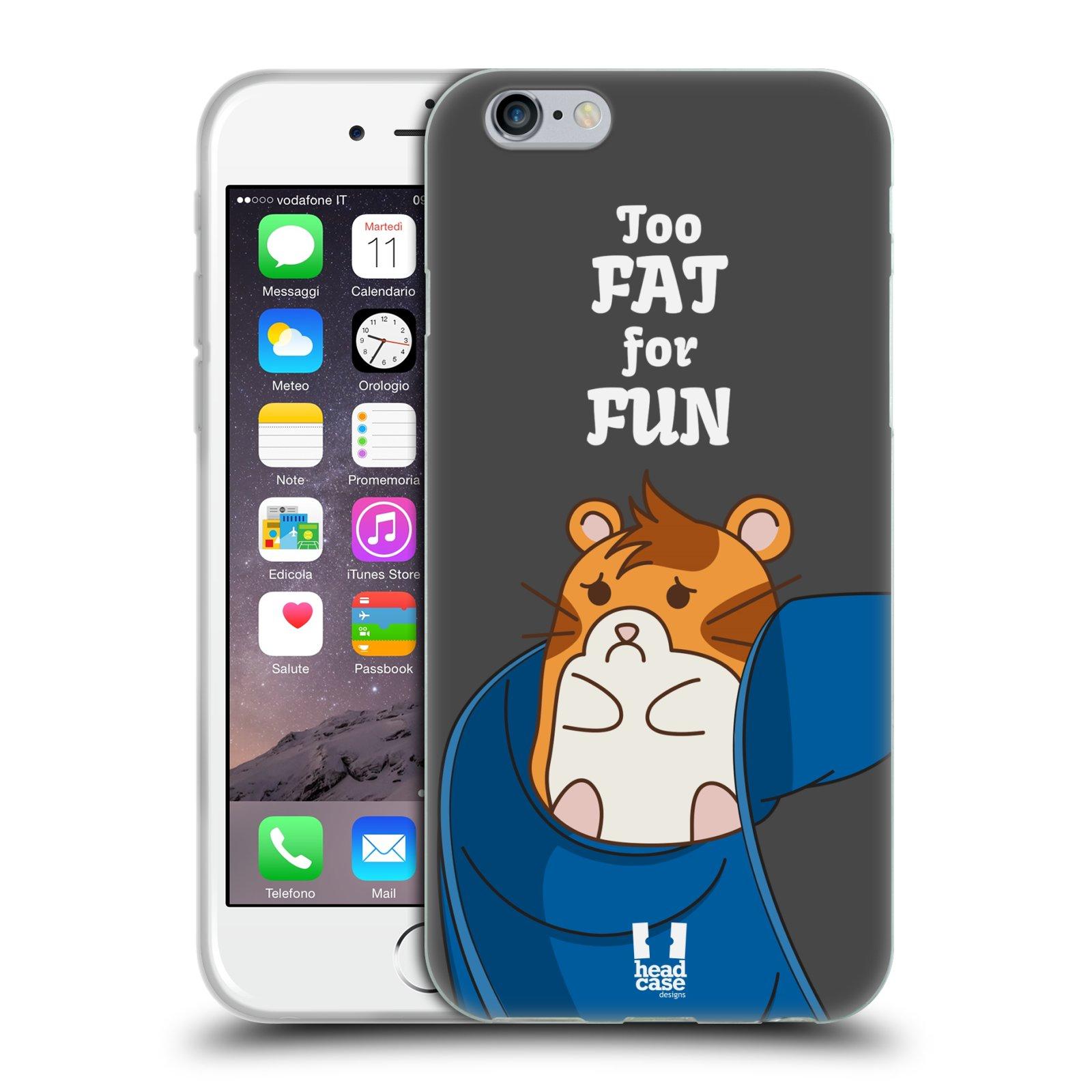 HEAD CASE NASH THE HAMSTER GEL SKIN BACK CASE COVER FOR APPLE iPHONE 6 4.7