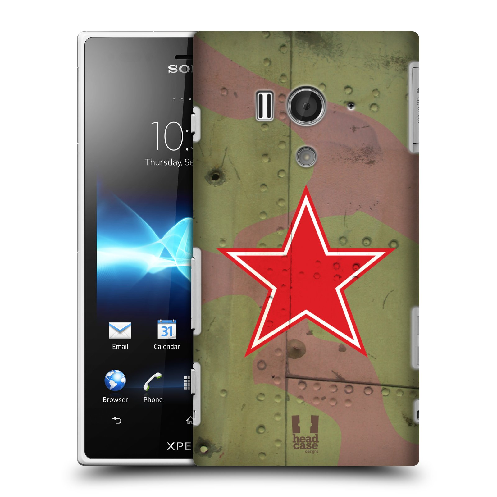 HEAD CASE DESIGNS NATION MARKINGS CASE COVER FOR SONY XPERIA ACRO S LT26W