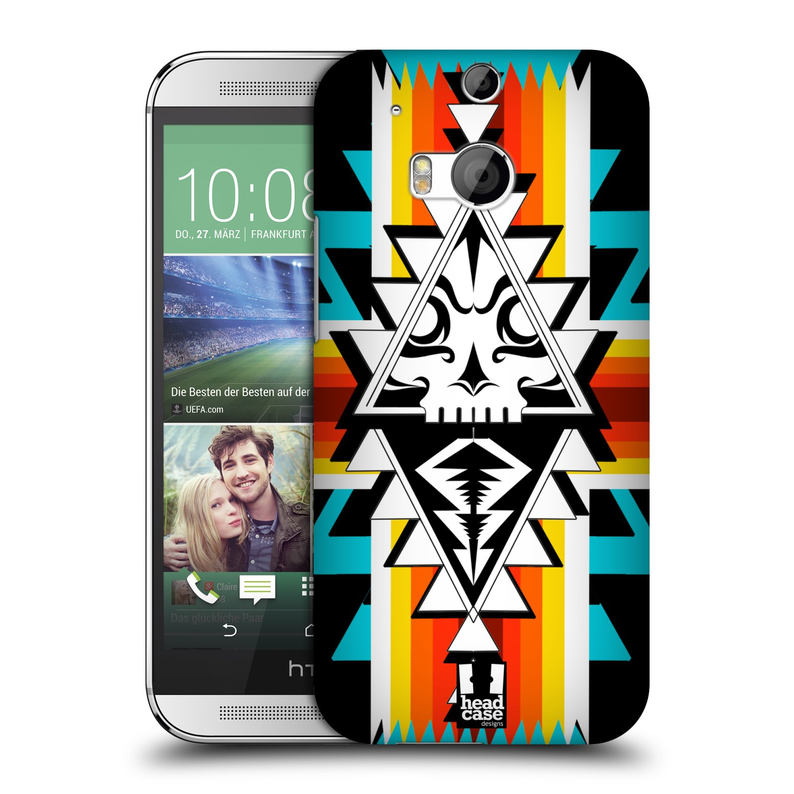 HEAD CASE NAVAJO SKULLS PROTECTIVE COVER FOR HTC ONE M8