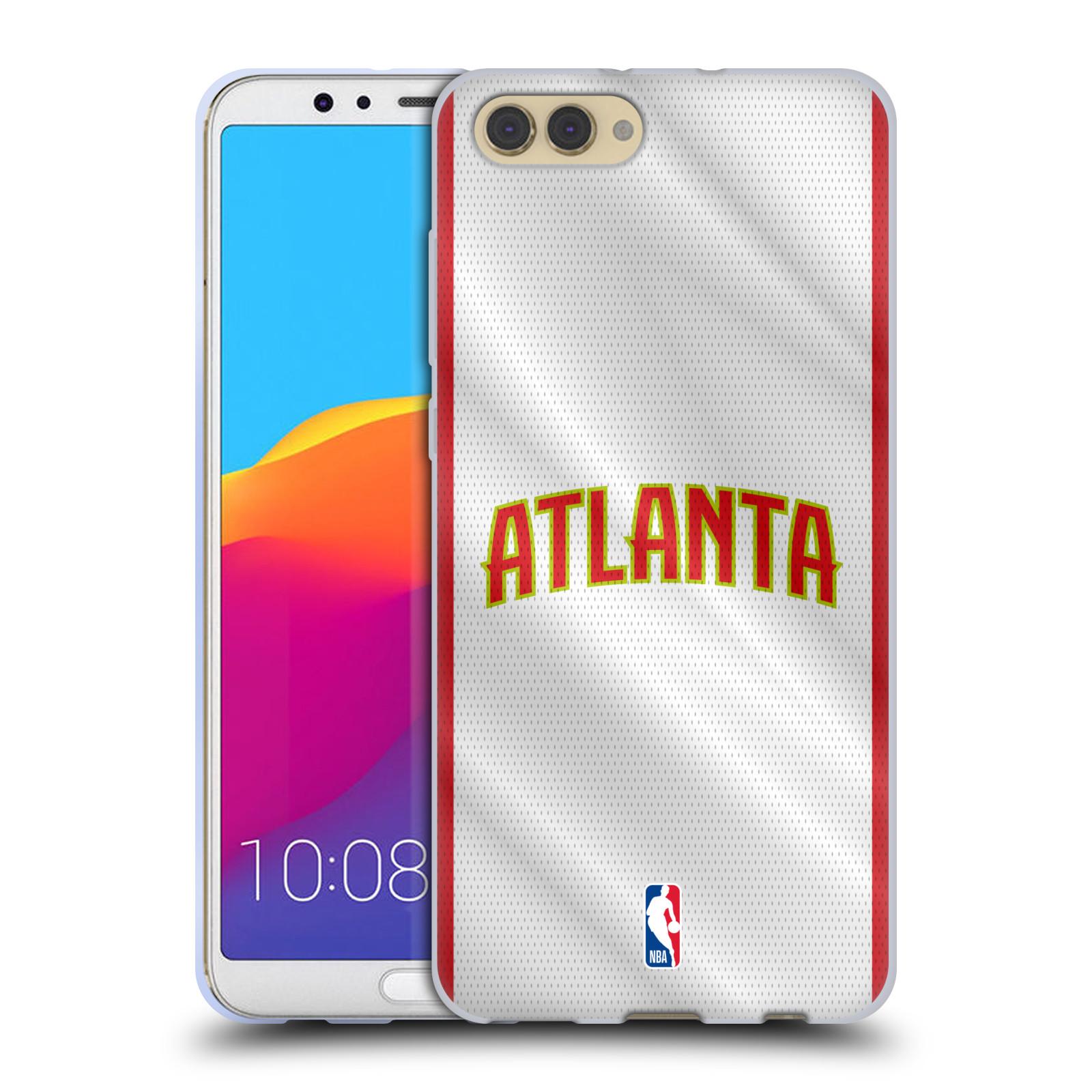 HEAD CASE silikonový obal na mobil Huawei HONOR VIEW 10 / V10 NBA Basketbalový klub Atlanta Hawks dres