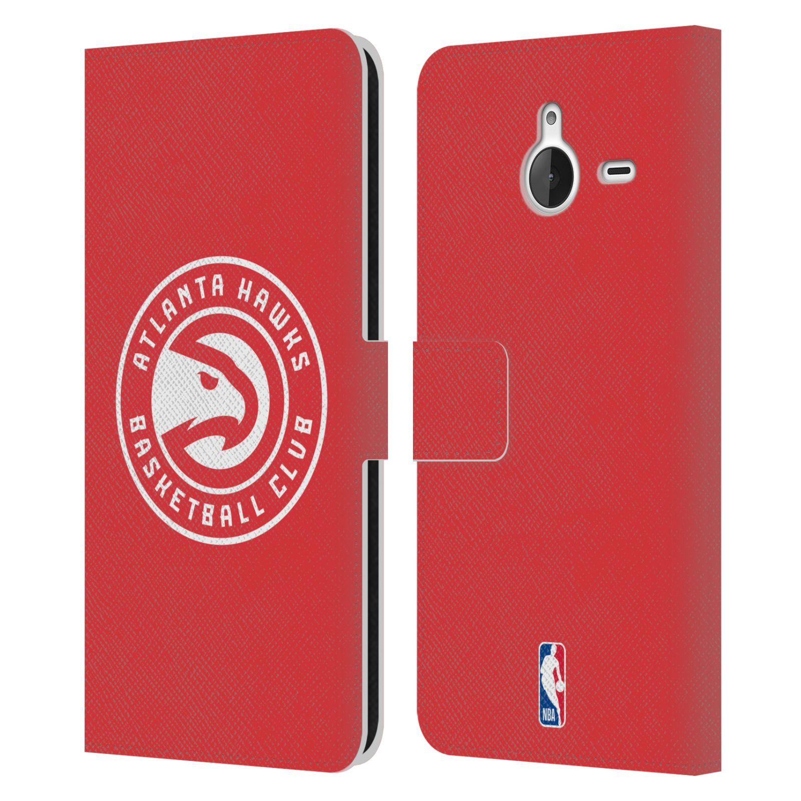 Pouzdro na mobil Nokia Lumia 640 XL - Head Case -NBA - Atlanta Hawks červené znak