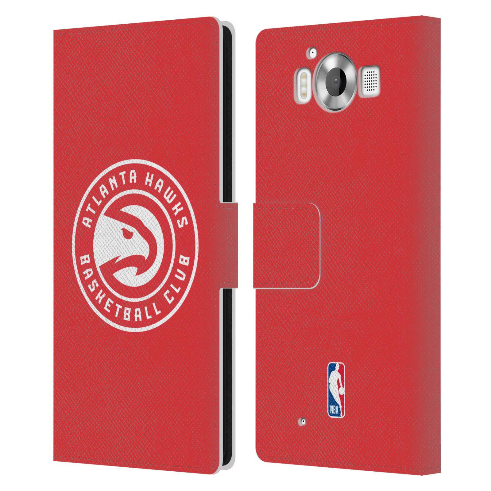 Pouzdro na mobil Nokia Lumia 950 - Head Case -NBA - Atlanta Hawks červené znak