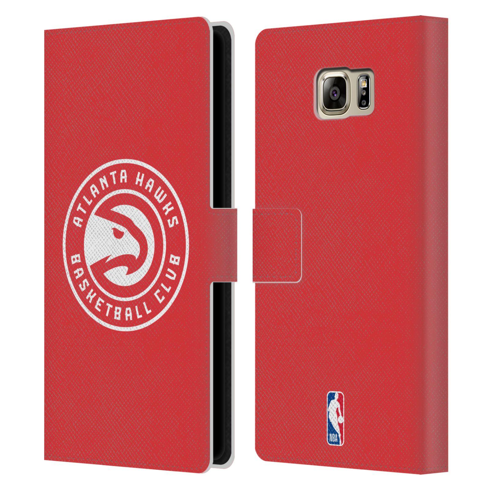 Pouzdro na mobil Samsung Galaxy NOTE 5 - Head Case -NBA - Atlanta Hawks červené znak
