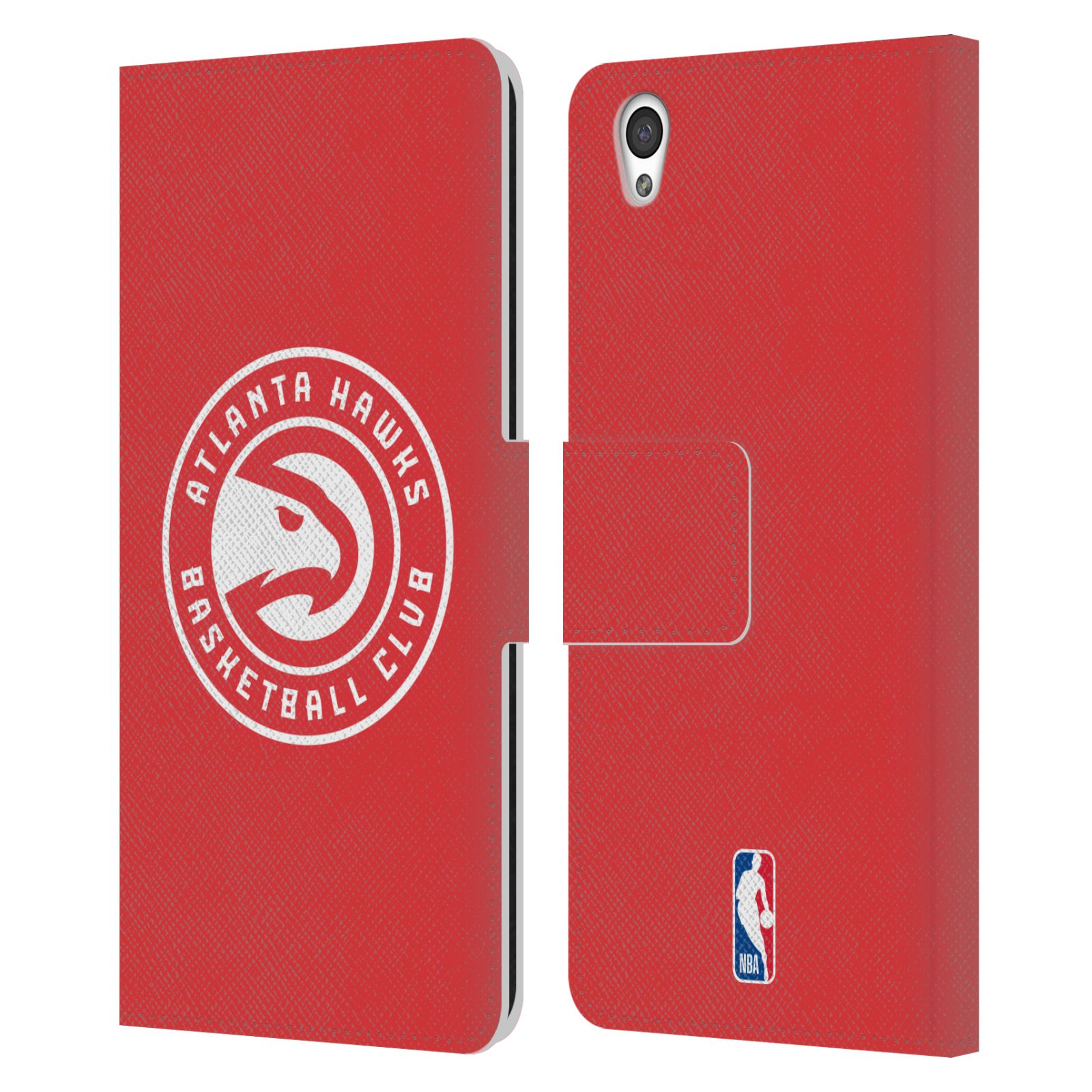 Pouzdro na mobil OnePlus X - Head Case -NBA - Atlanta Hawks červené znak
