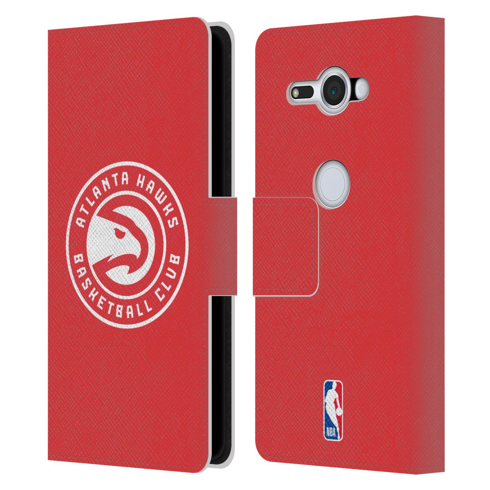 Pouzdro na mobil Sony Xperia XZ2 Compact - Head Case -NBA - Atlanta Hawks červené znak