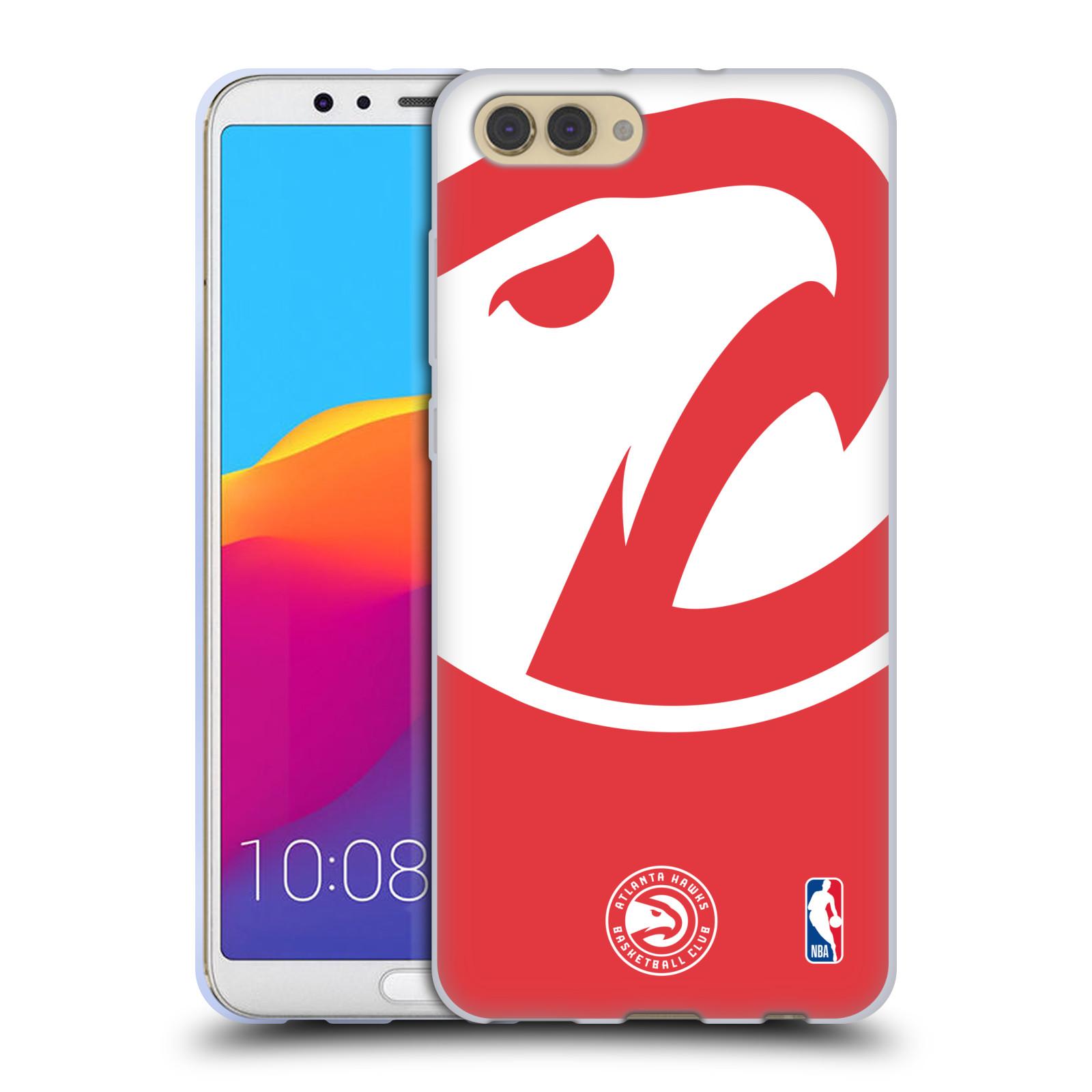 HEAD CASE silikonový obal na mobil Huawei HONOR VIEW 10 / V10 NBA Basketbalový klub Atlanta Hawks velké logo