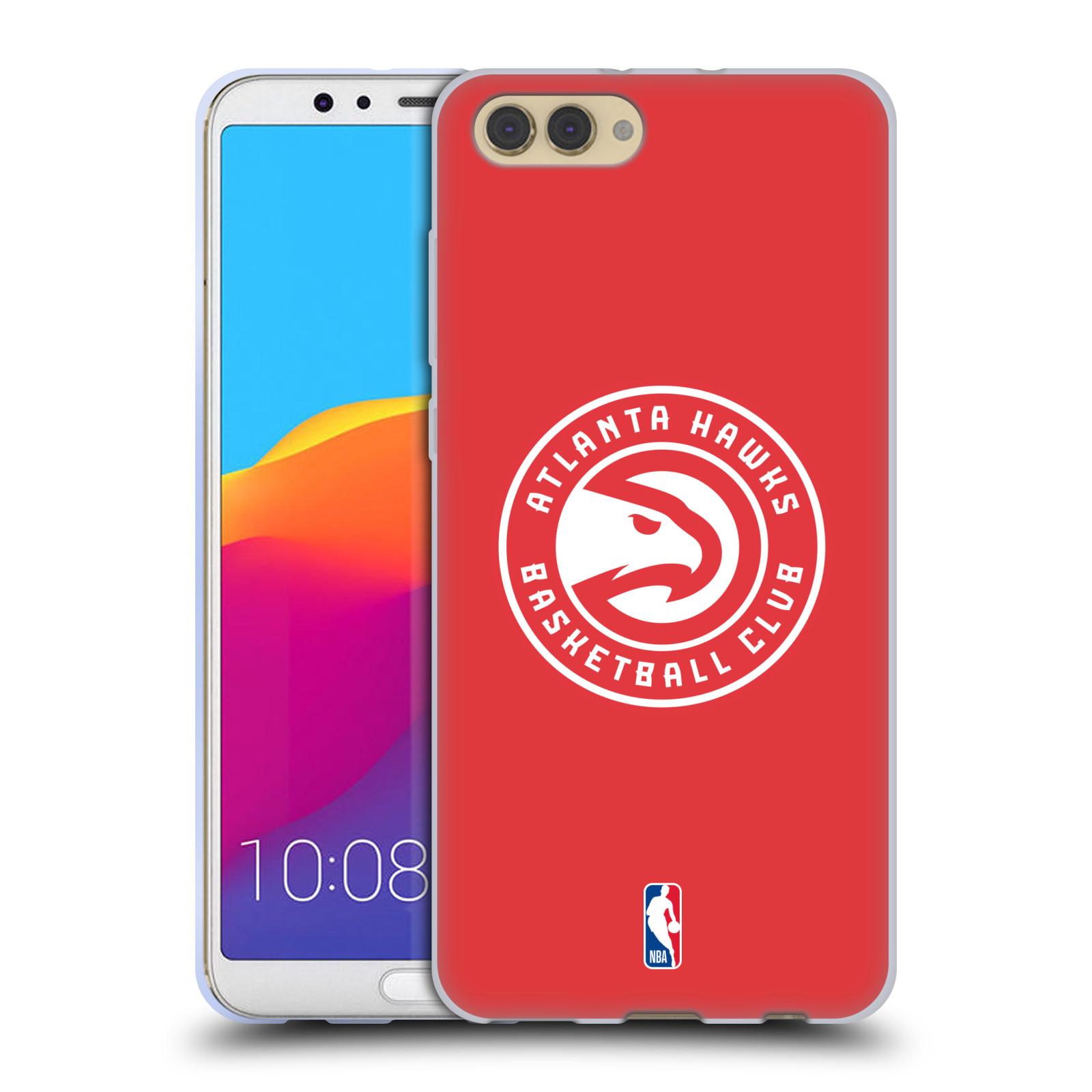 HEAD CASE silikonový obal na mobil Huawei HONOR VIEW 10 / V10 NBA Basketbalový klub Atlanta Hawks červené pozadí velké bílé logo