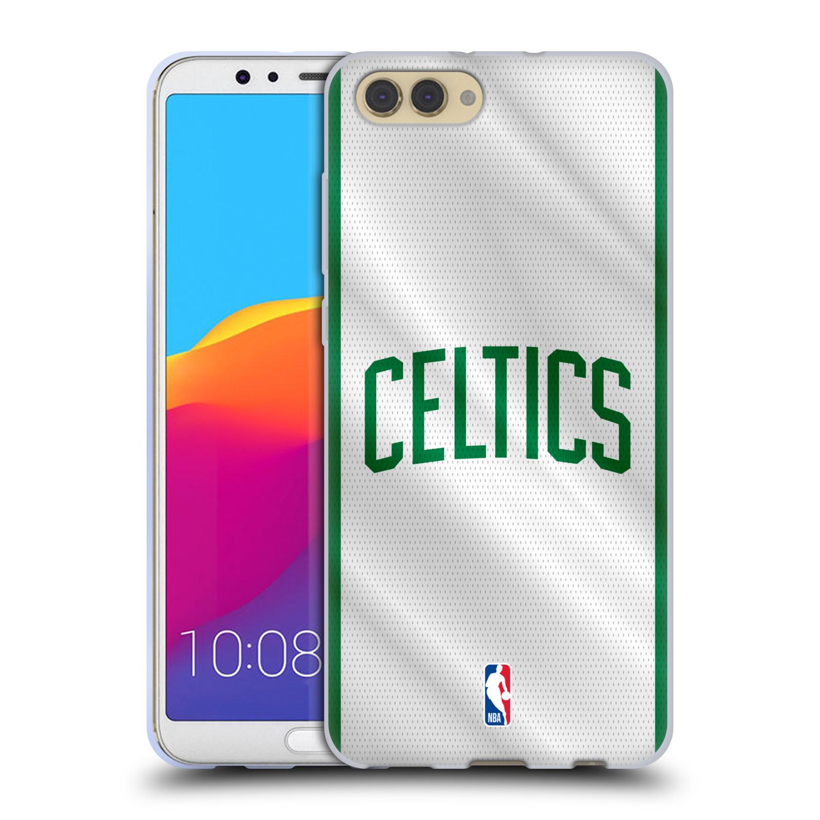 HEAD CASE silikonový obal na mobil Huawei HONOR VIEW 10 / V10 NBA Basketbalový klub Boston Celtics herní dres