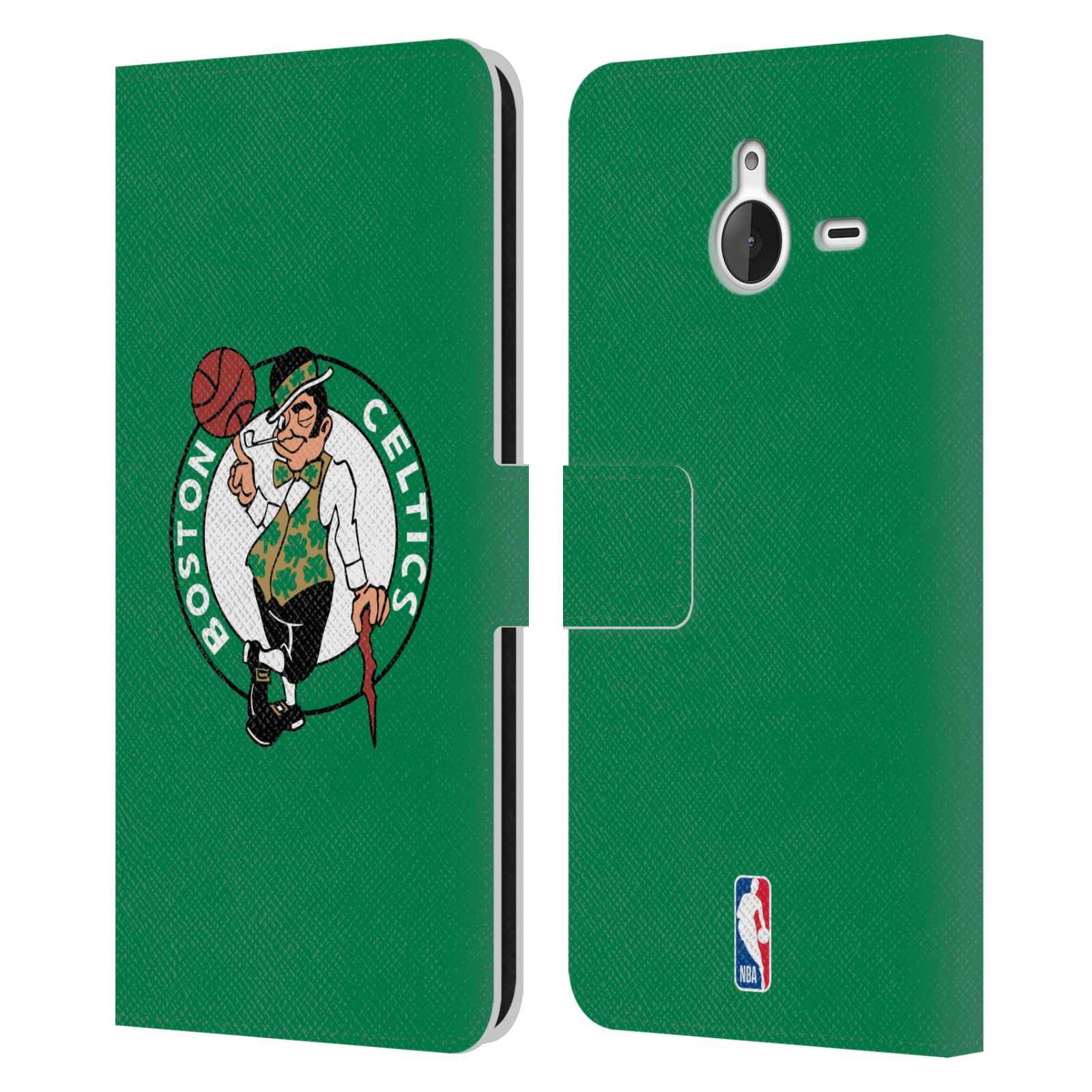Pouzdro na mobil Nokia Lumia 640 XL - Head Case - NBA - Boston Celtics zelená barva znak