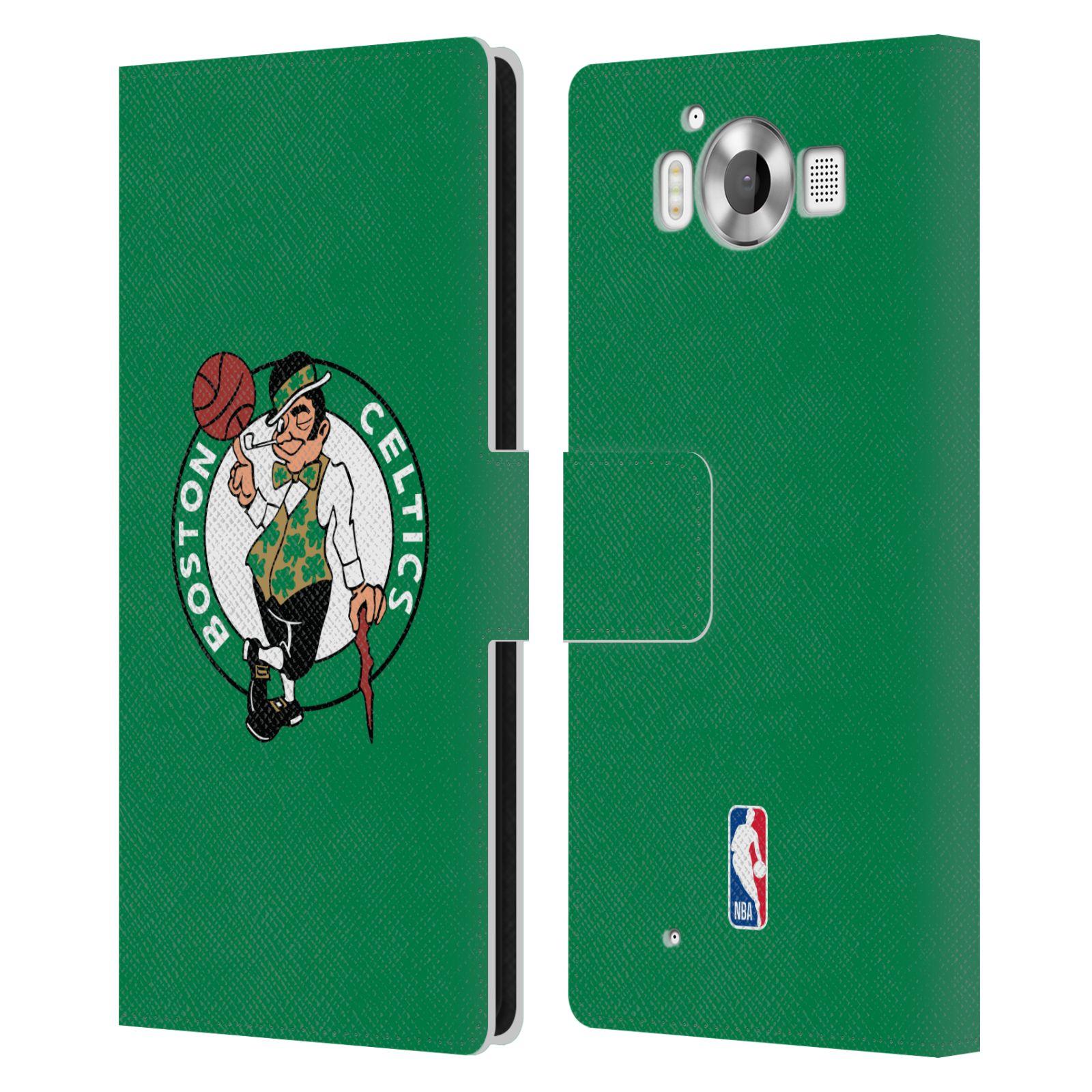 Pouzdro na mobil Nokia Lumia 950 - Head Case - NBA - Boston Celtics zelená barva znak