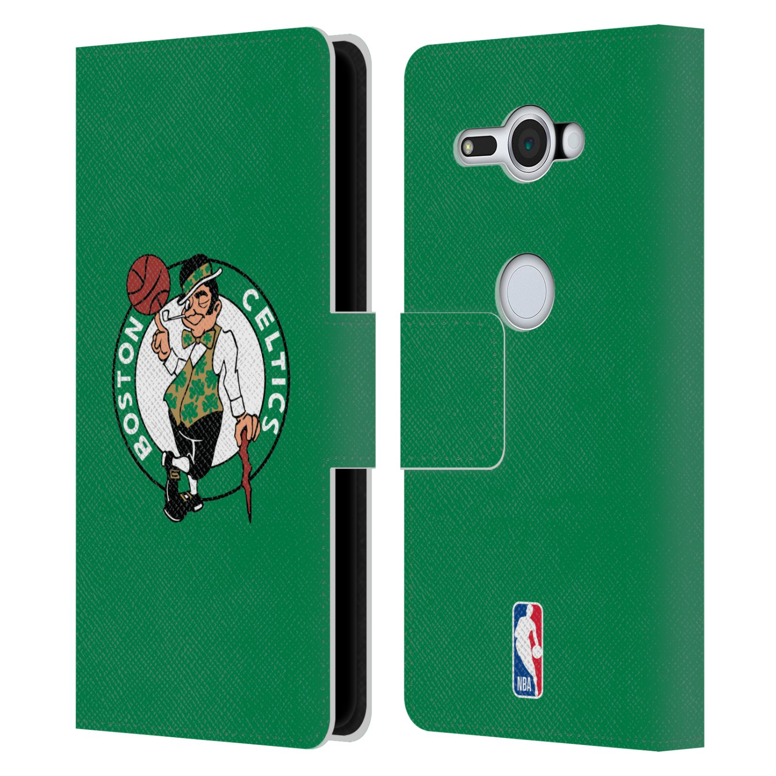Pouzdro na mobil Sony Xperia XZ2 Compact - Head Case - NBA - Boston Celtics zelená barva znak
