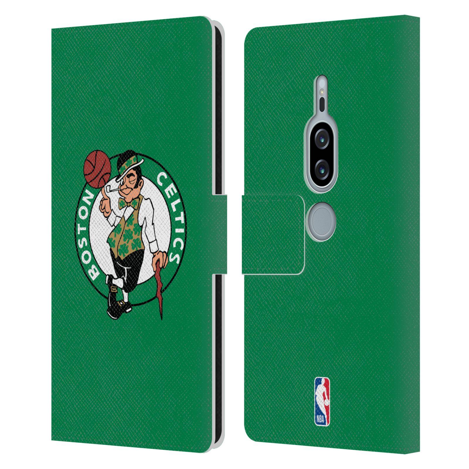 Pouzdro na mobil Sony Xperia XZ2 Premium - Head Case - NBA - Boston Celtics zelená barva znak