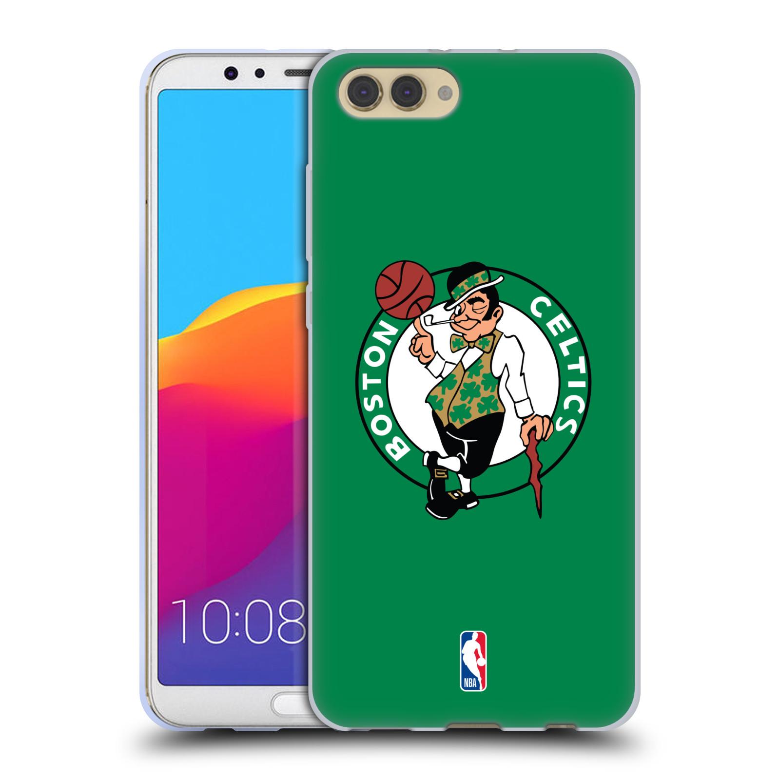 HEAD CASE silikonový obal na mobil Huawei HONOR VIEW 10 / V10 NBA Basketbalový klub Boston Celtics zelené pozadí logo barevné
