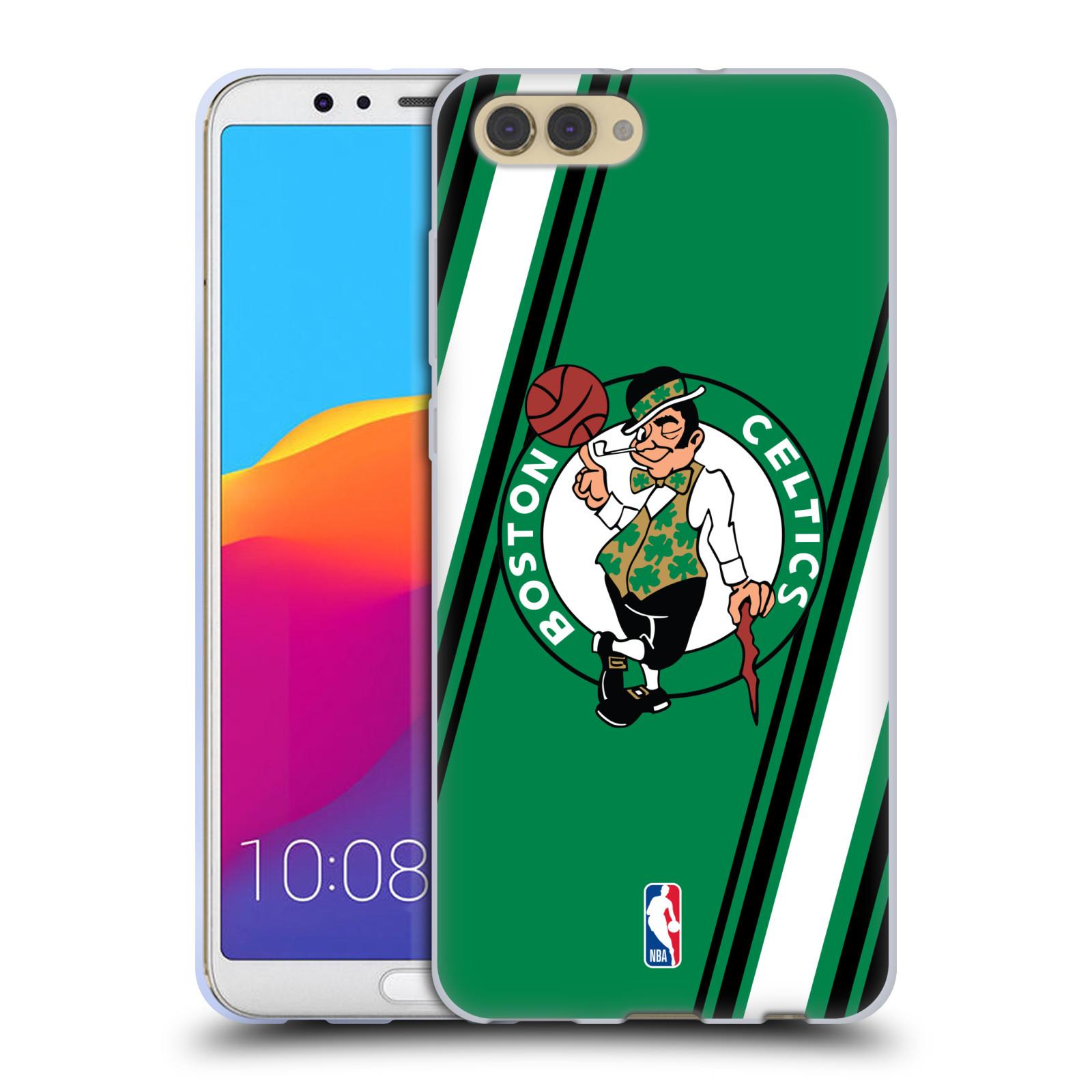 HEAD CASE silikonový obal na mobil Huawei HONOR VIEW 10 / V10 NBA Basketbalový klub Boston Celtics proužky barevné logo zelená