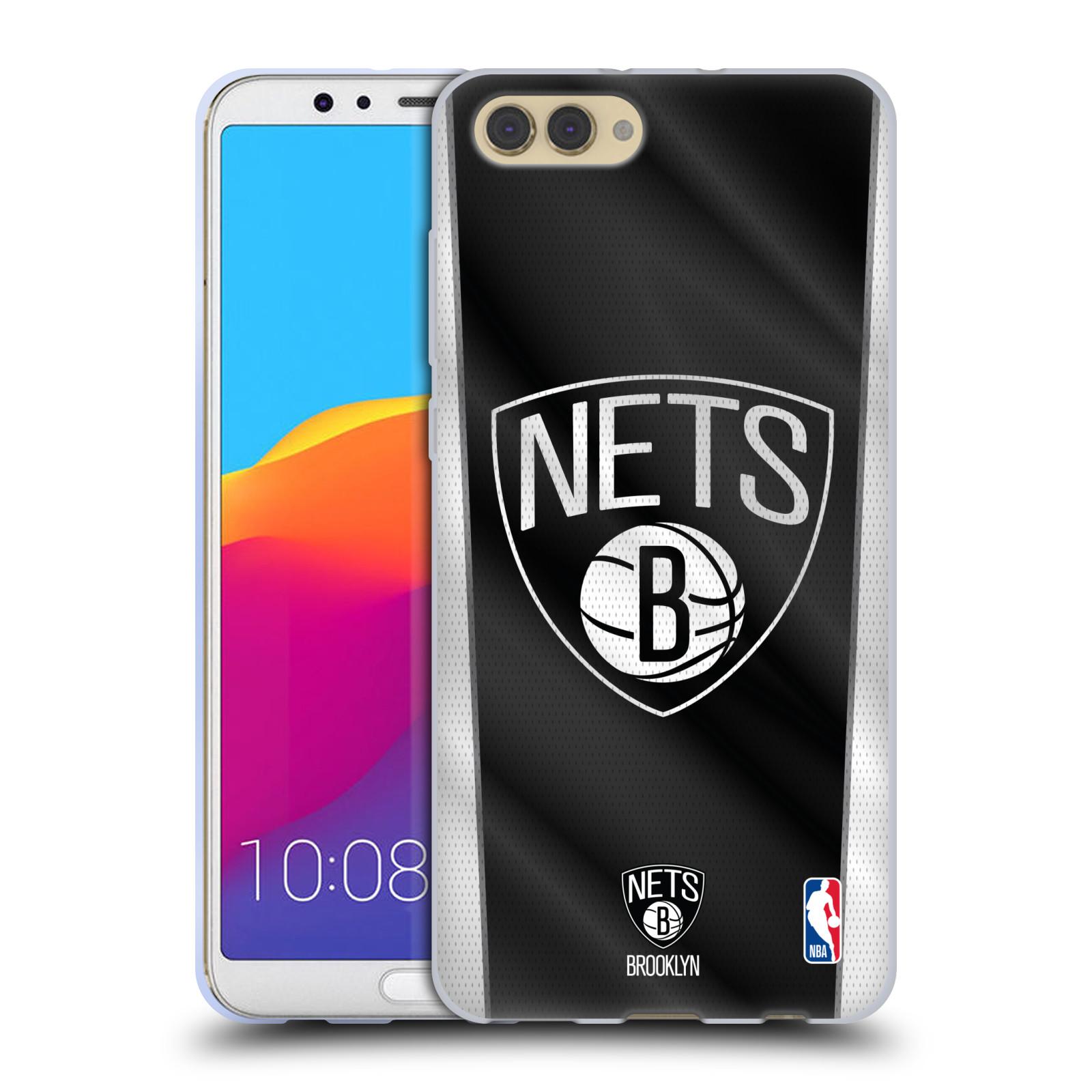 HEAD CASE silikonový obal na mobil Huawei HONOR VIEW 10 / V10 NBA Basketbalový klub Brooklyn Nets logo basketbalový míč