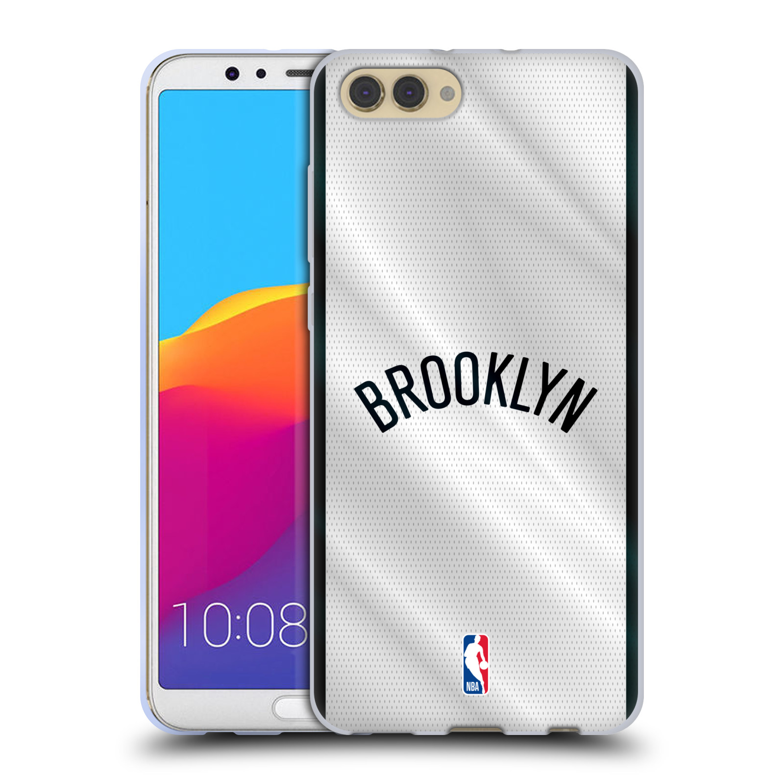 HEAD CASE silikonový obal na mobil Huawei HONOR VIEW 10 / V10 NBA Basketbalový klub Brooklyn Nets nápis