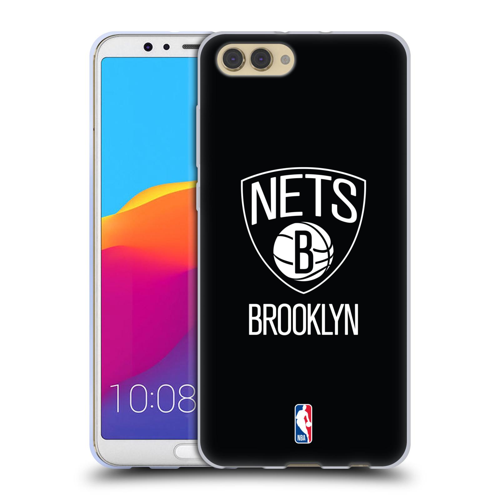 HEAD CASE silikonový obal na mobil Huawei HONOR VIEW 10 / V10 NBA Basketbalový klub Brooklyn Nets černá