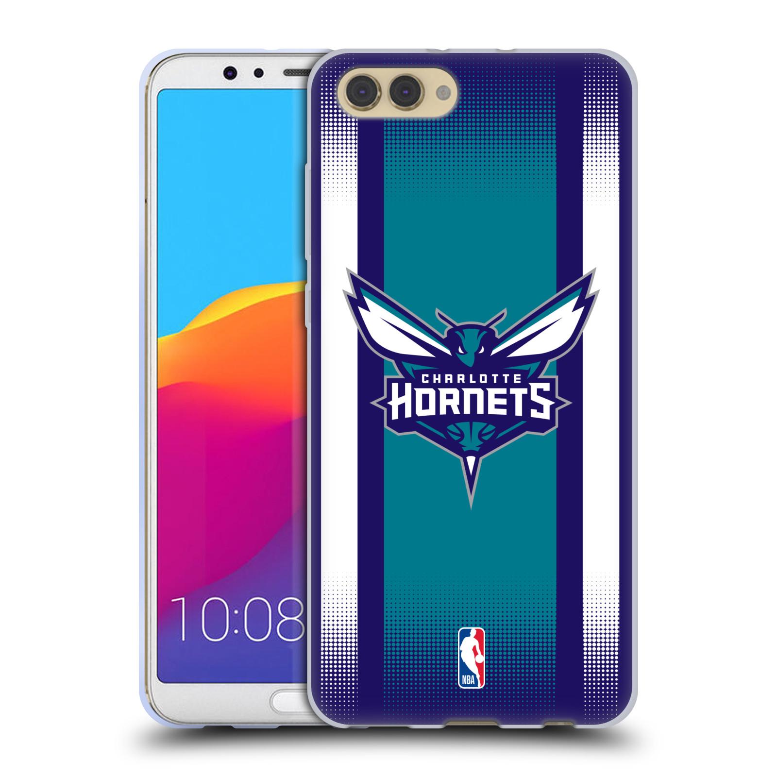 HEAD CASE silikonový obal na mobil Huawei HONOR VIEW 10 / V10 NBA Basketbalový klub Charlotte Hornets logo pruhy