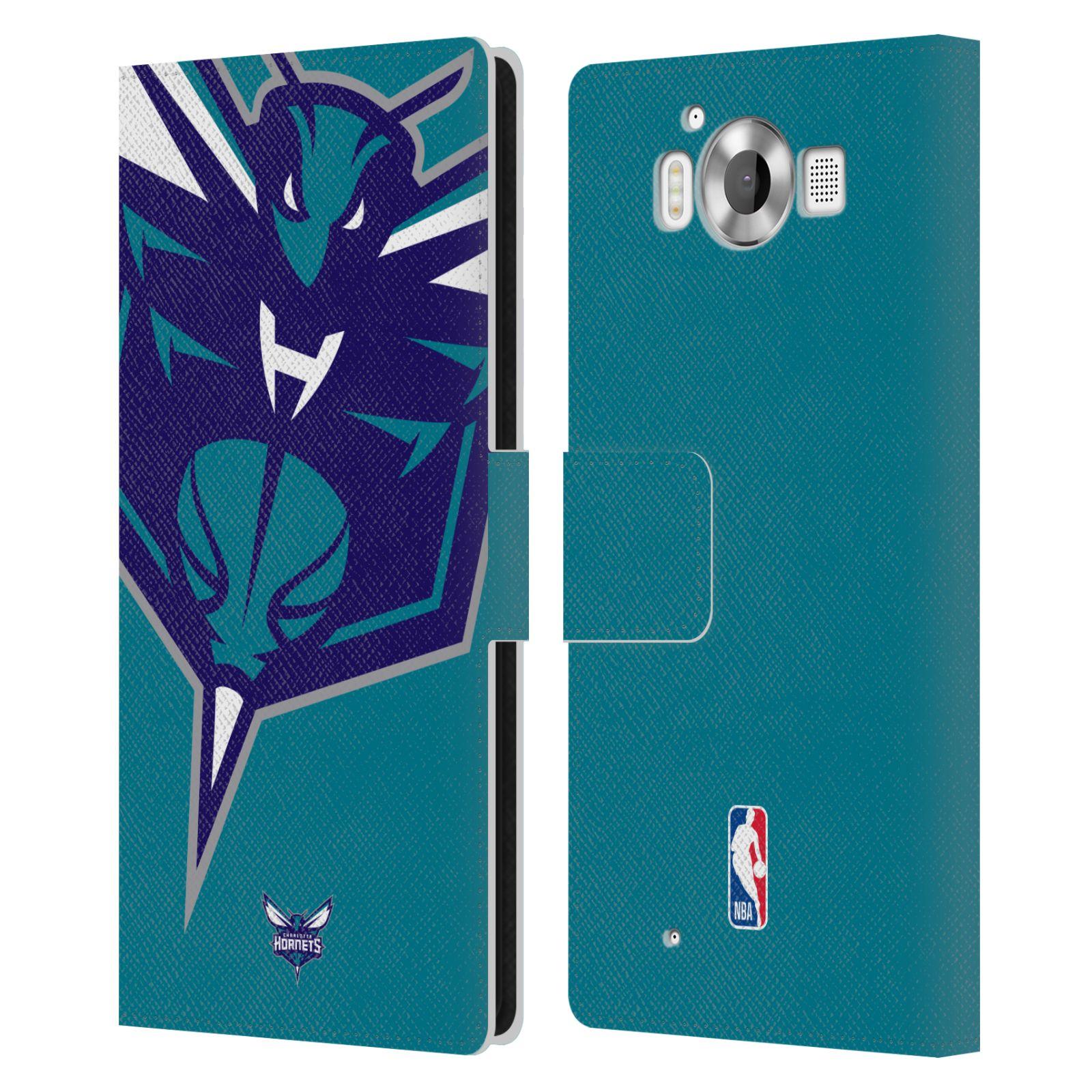 Pouzdro na mobil Nokia Lumia 950 - Head Case -NBA - Charlotte Hornets modrá barva velký znak