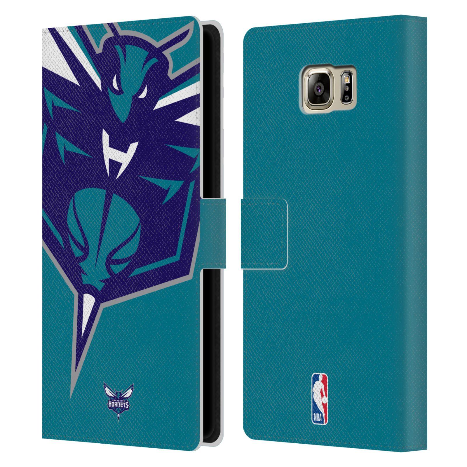 Pouzdro na mobil Samsung Galaxy NOTE 5 - Head Case -NBA - Charlotte Hornets modrá barva velký znak