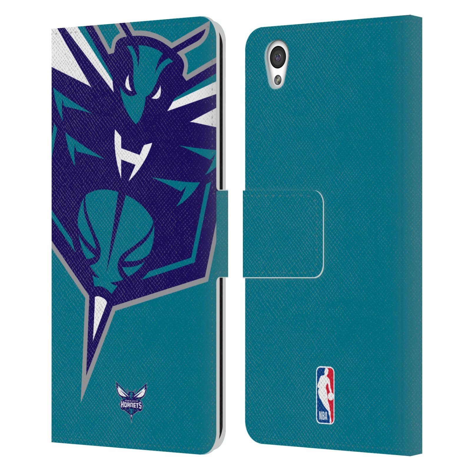 Pouzdro na mobil OnePlus X - Head Case -NBA - Charlotte Hornets modrá barva velký znak