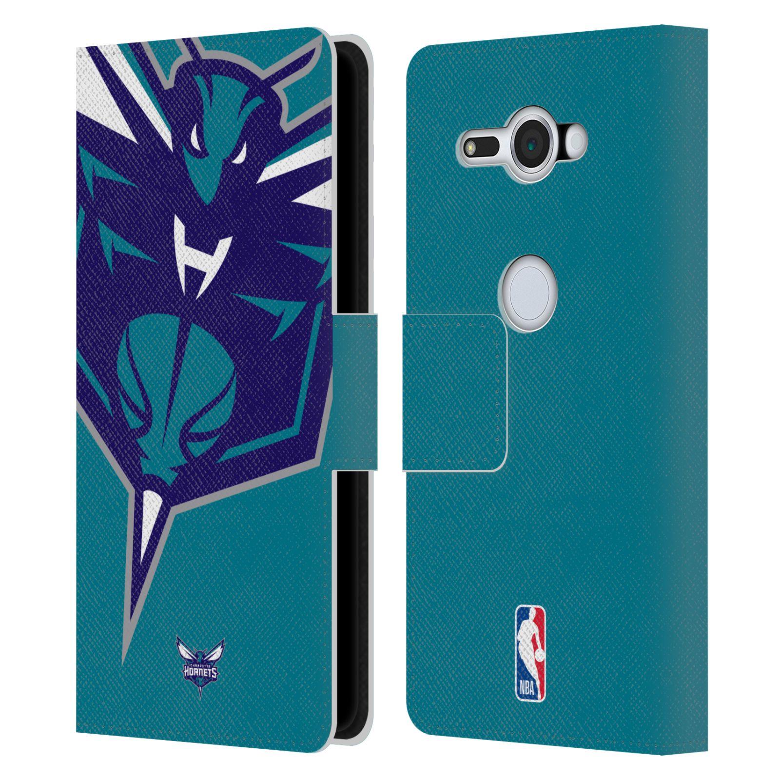 Pouzdro na mobil Sony Xperia XZ2 Compact - Head Case -NBA - Charlotte Hornets modrá barva velký znak