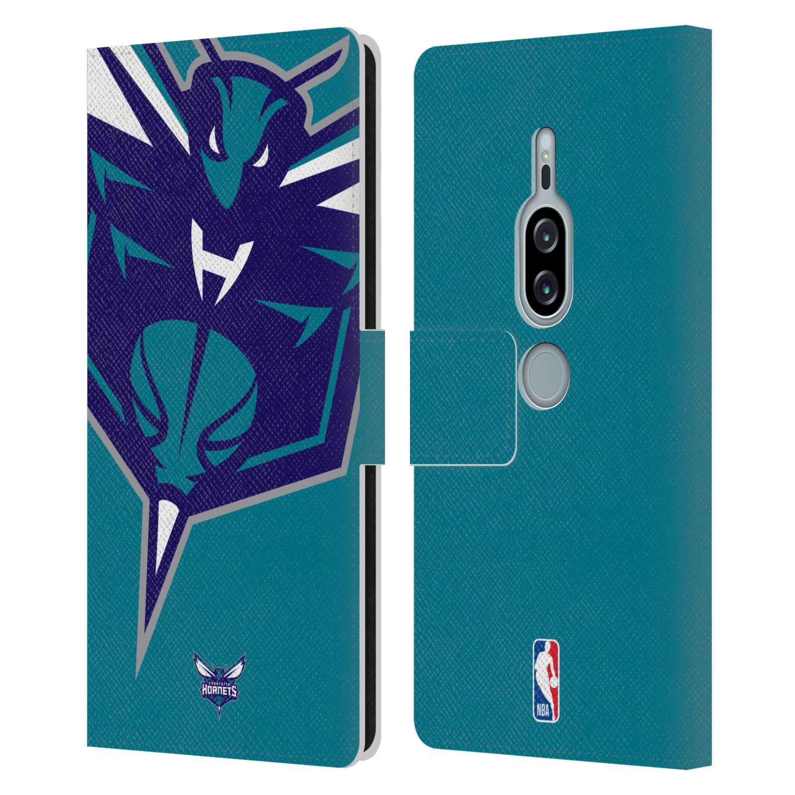 Pouzdro na mobil Sony Xperia XZ2 Premium - Head Case -NBA - Charlotte Hornets modrá barva velký znak