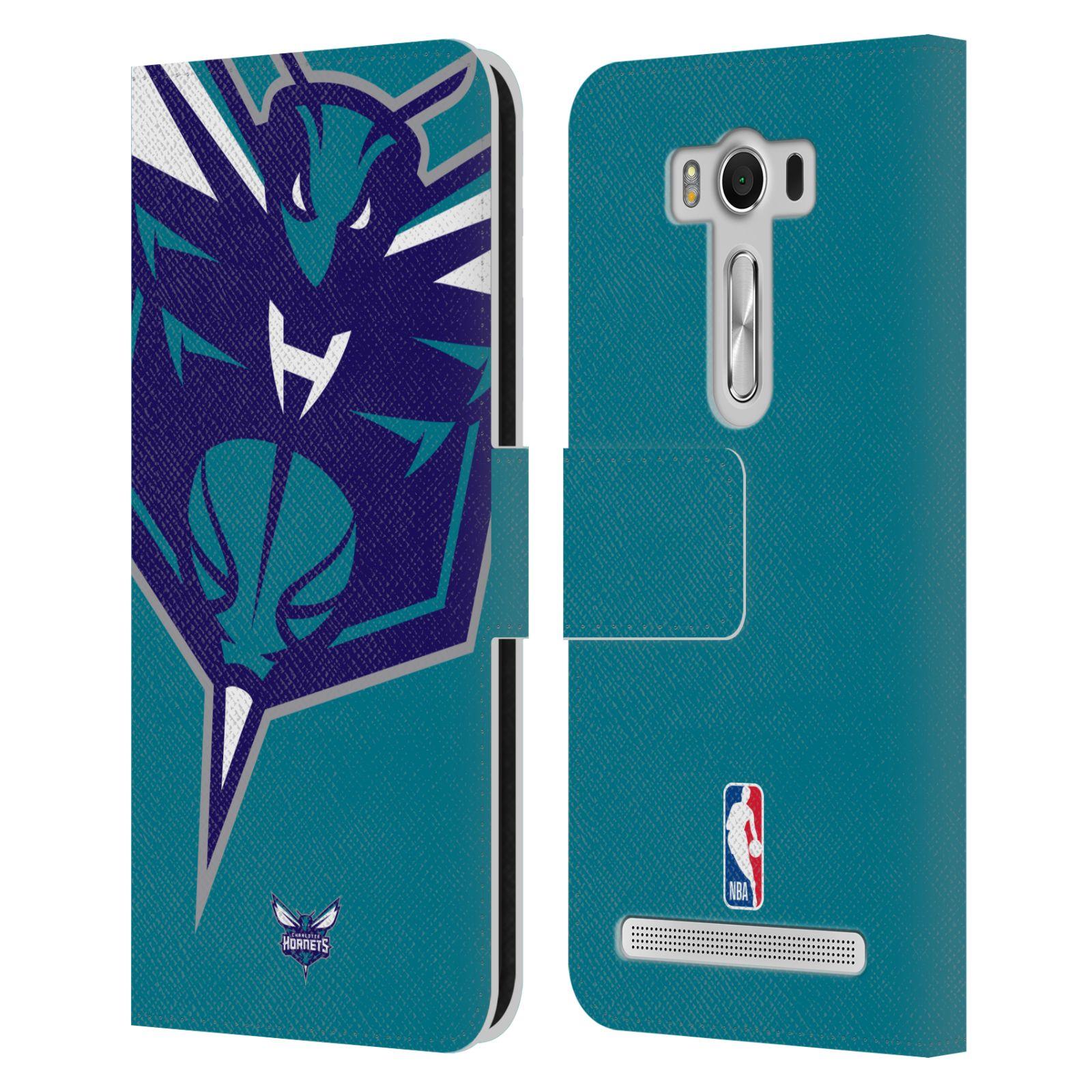 Pouzdro na mobil Asus Zenfone 2 Laser ZE500KL - Head Case -NBA - Charlotte Hornets modrá barva velký znak