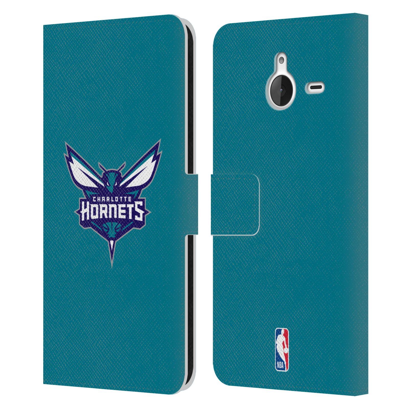 Pouzdro na mobil Nokia Lumia 640 XL - Head Case -NBA - Charlotte Hornets modrá barva znak