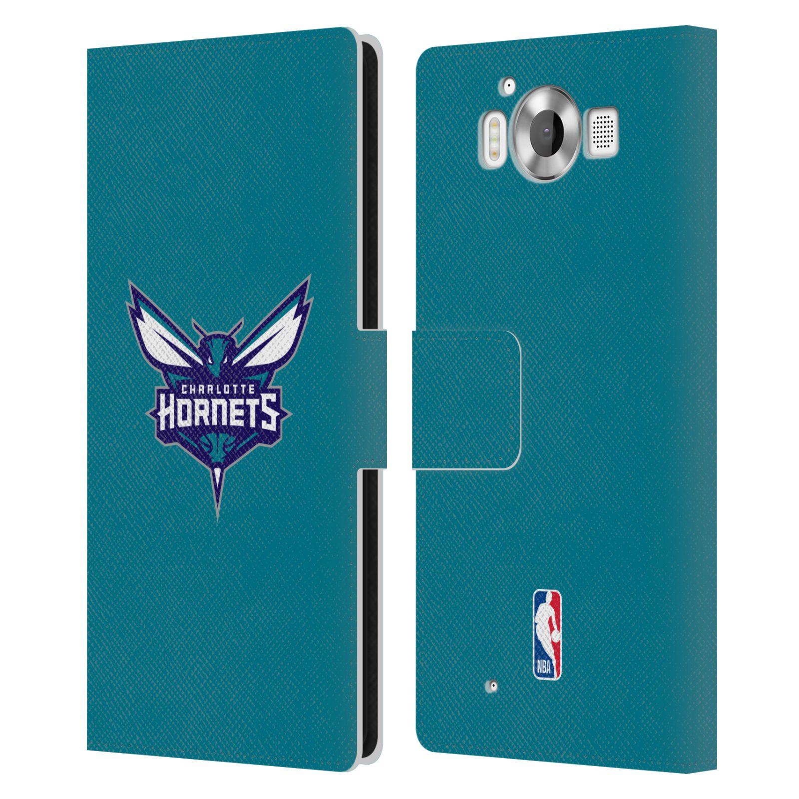 Pouzdro na mobil Nokia Lumia 950 - Head Case -NBA - Charlotte Hornets modrá barva znak