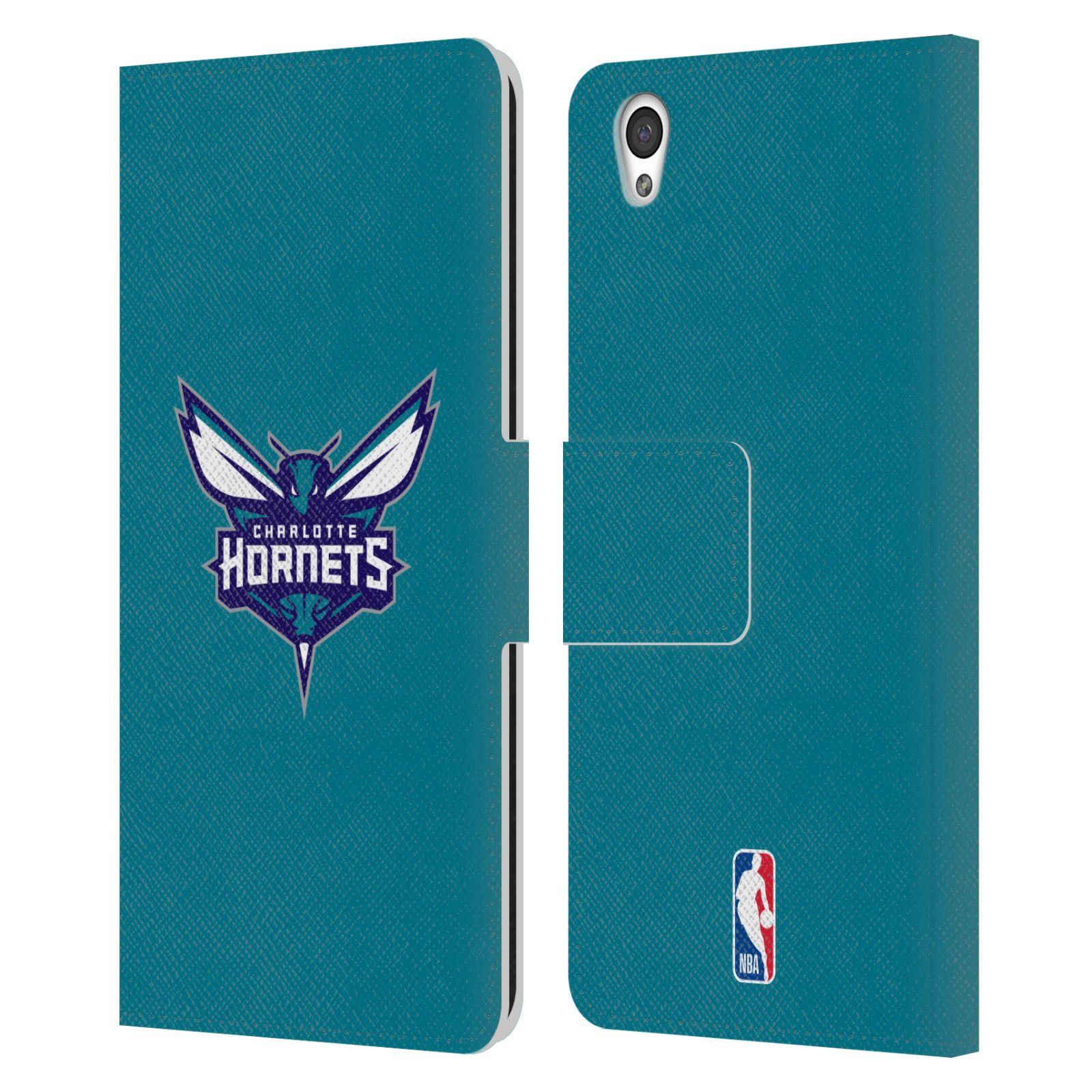 Pouzdro na mobil OnePlus X - Head Case -NBA - Charlotte Hornets modrá barva znak