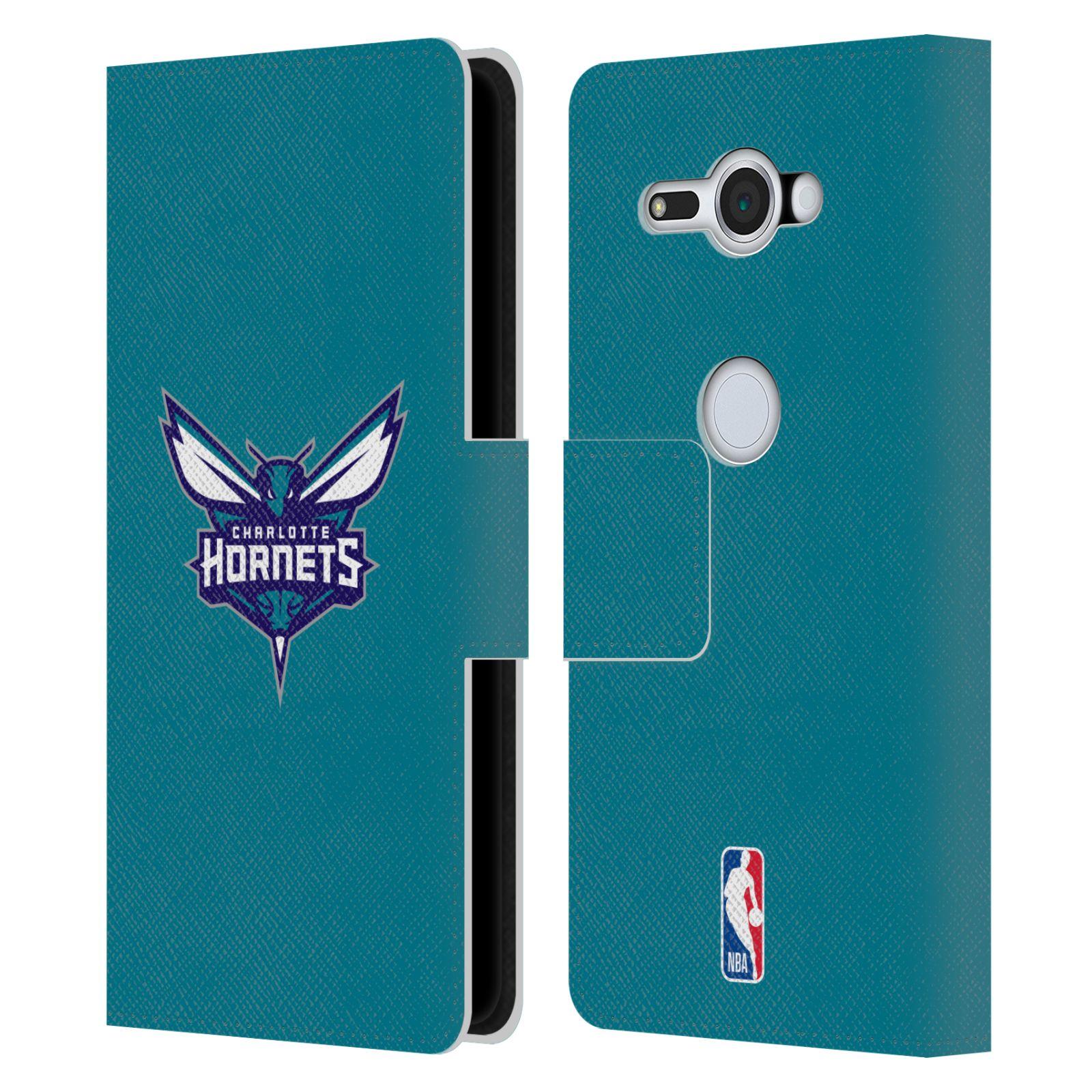 Pouzdro na mobil Sony Xperia XZ2 Compact - Head Case -NBA - Charlotte Hornets modrá barva znak