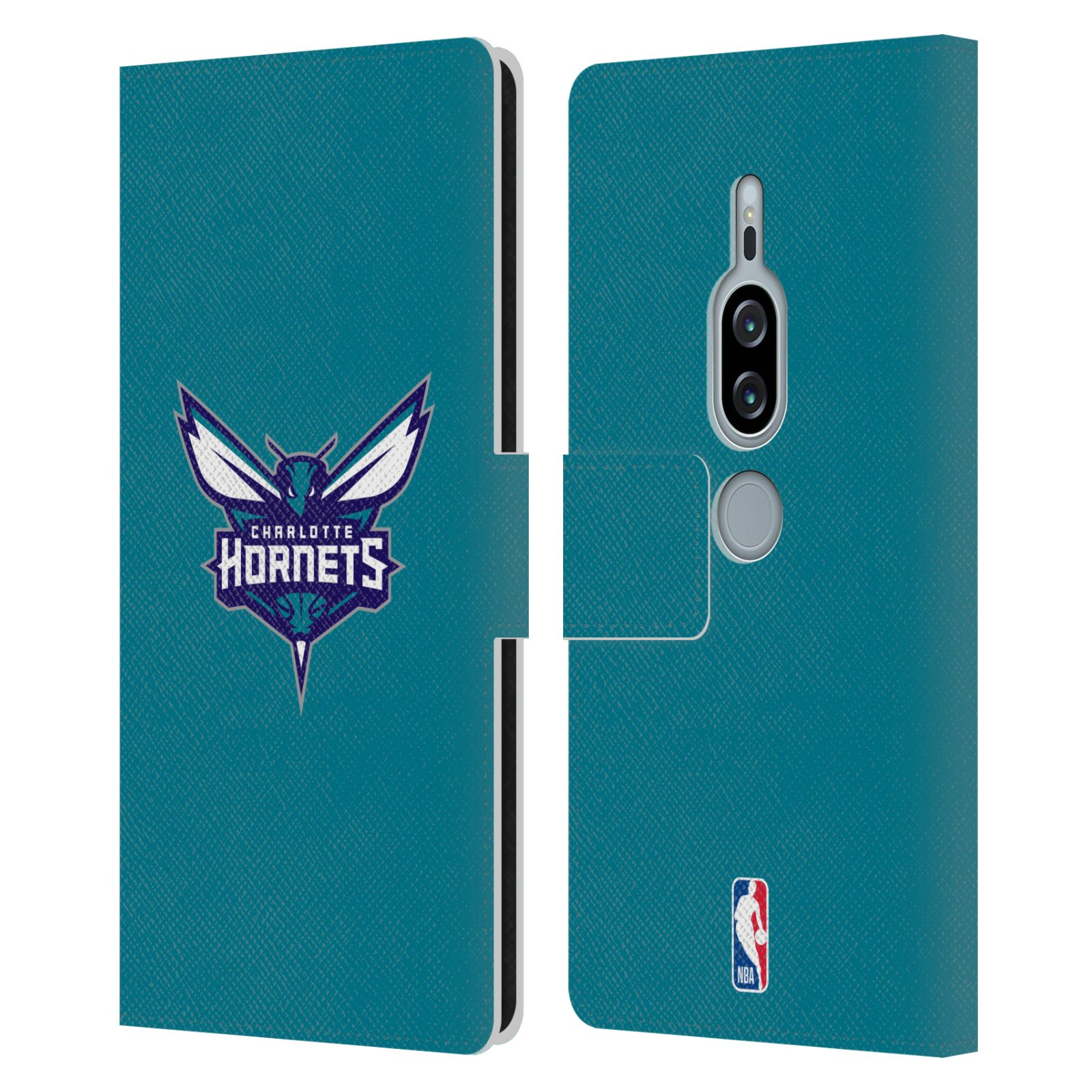 Pouzdro na mobil Sony Xperia XZ2 Premium - Head Case -NBA - Charlotte Hornets modrá barva znak