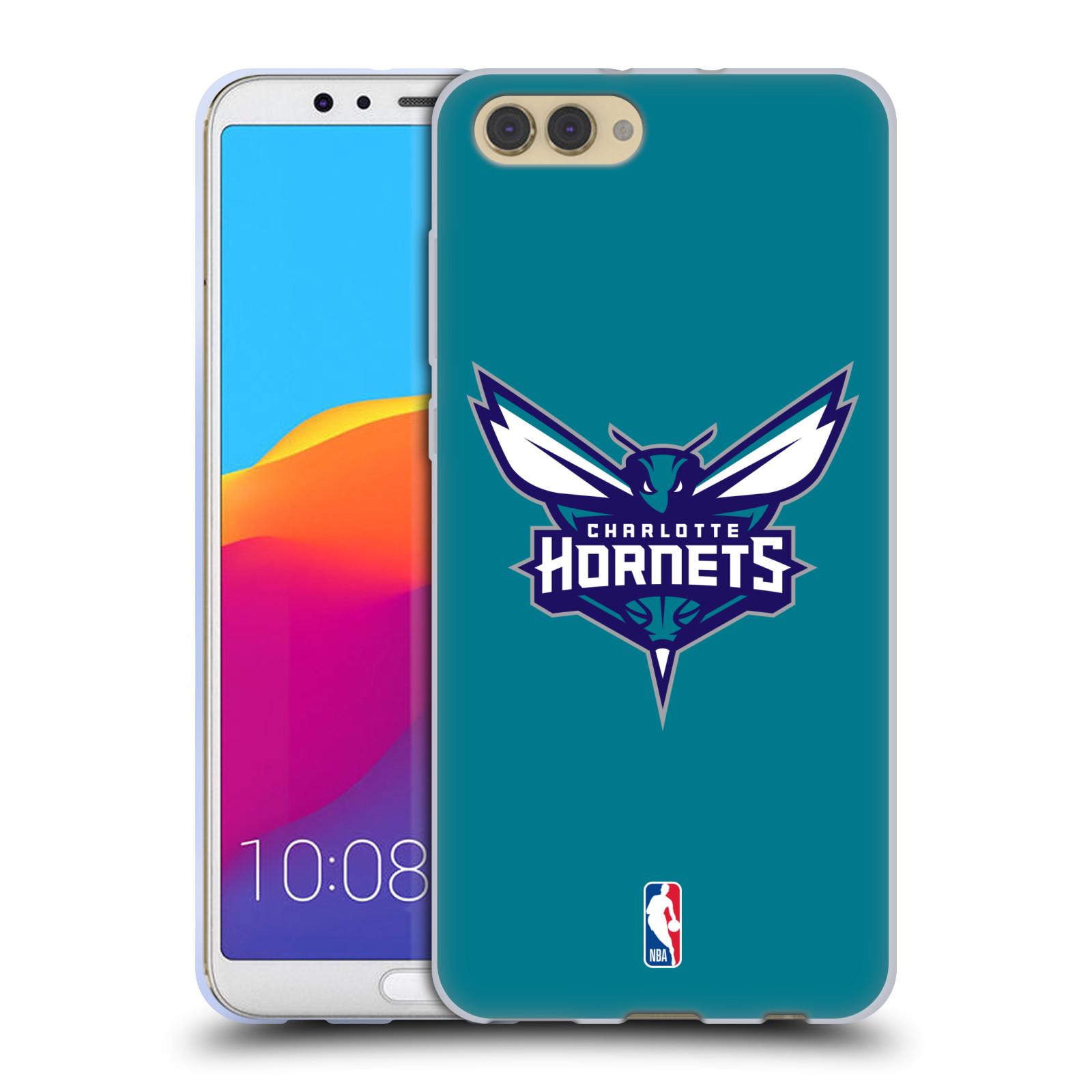 HEAD CASE silikonový obal na mobil Huawei HONOR VIEW 10 / V10 NBA Basketbalový klub Charlotte Hornets logo