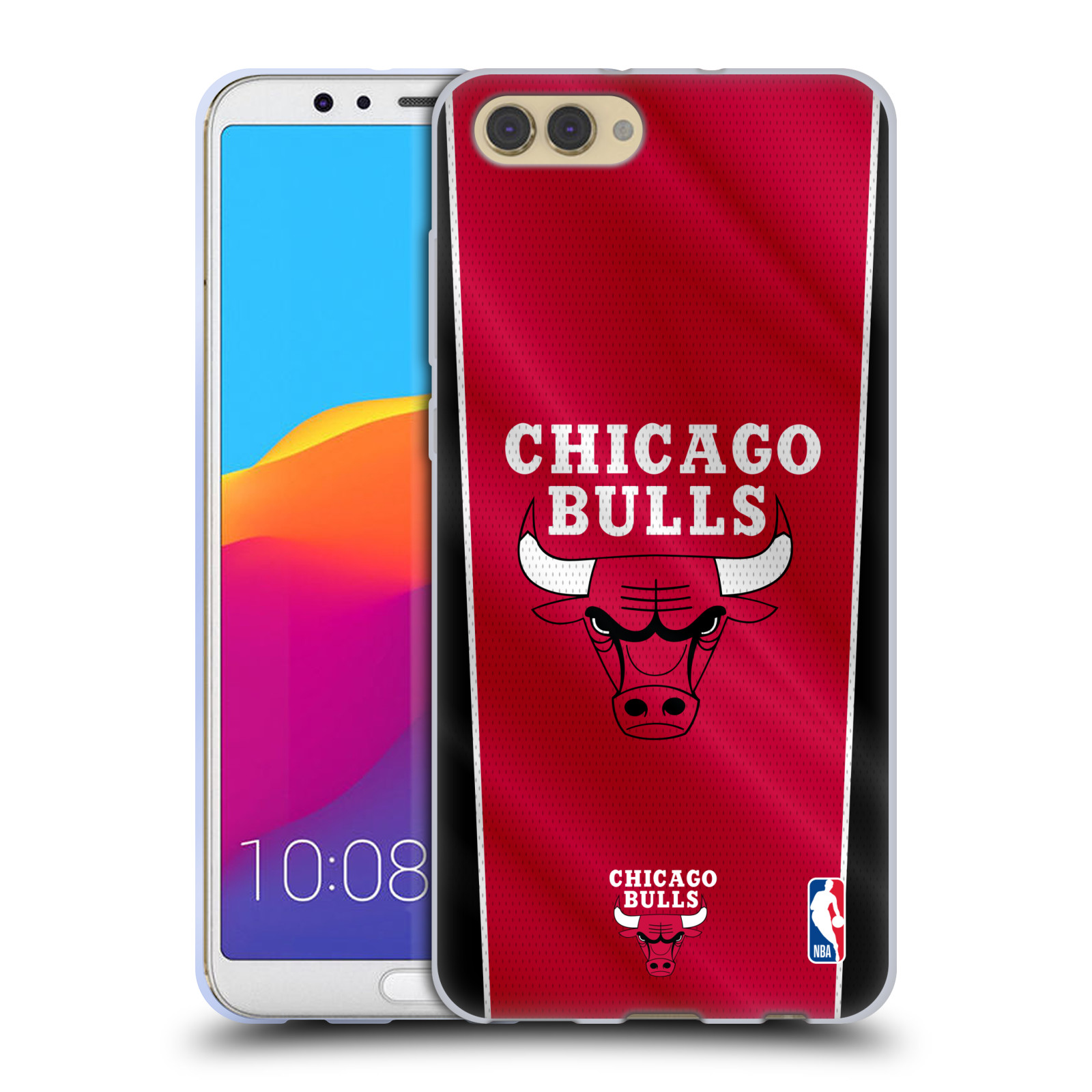 HEAD CASE silikonový obal na mobil Huawei HONOR VIEW 10 / V10 NBA Basketbalový klub Chicago Bulls logo vlajka