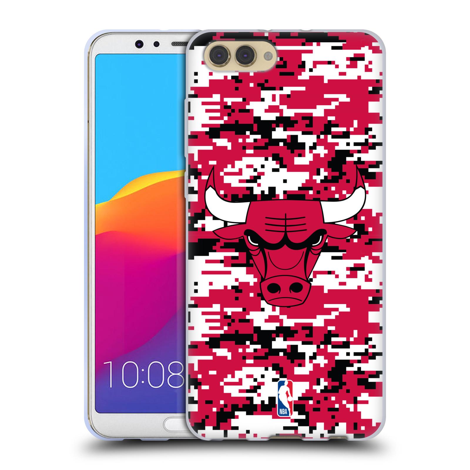 HEAD CASE silikonový obal na mobil Huawei HONOR VIEW 10 / V10 NBA Basketbalový klub Chicago Bulls logo kamufláž