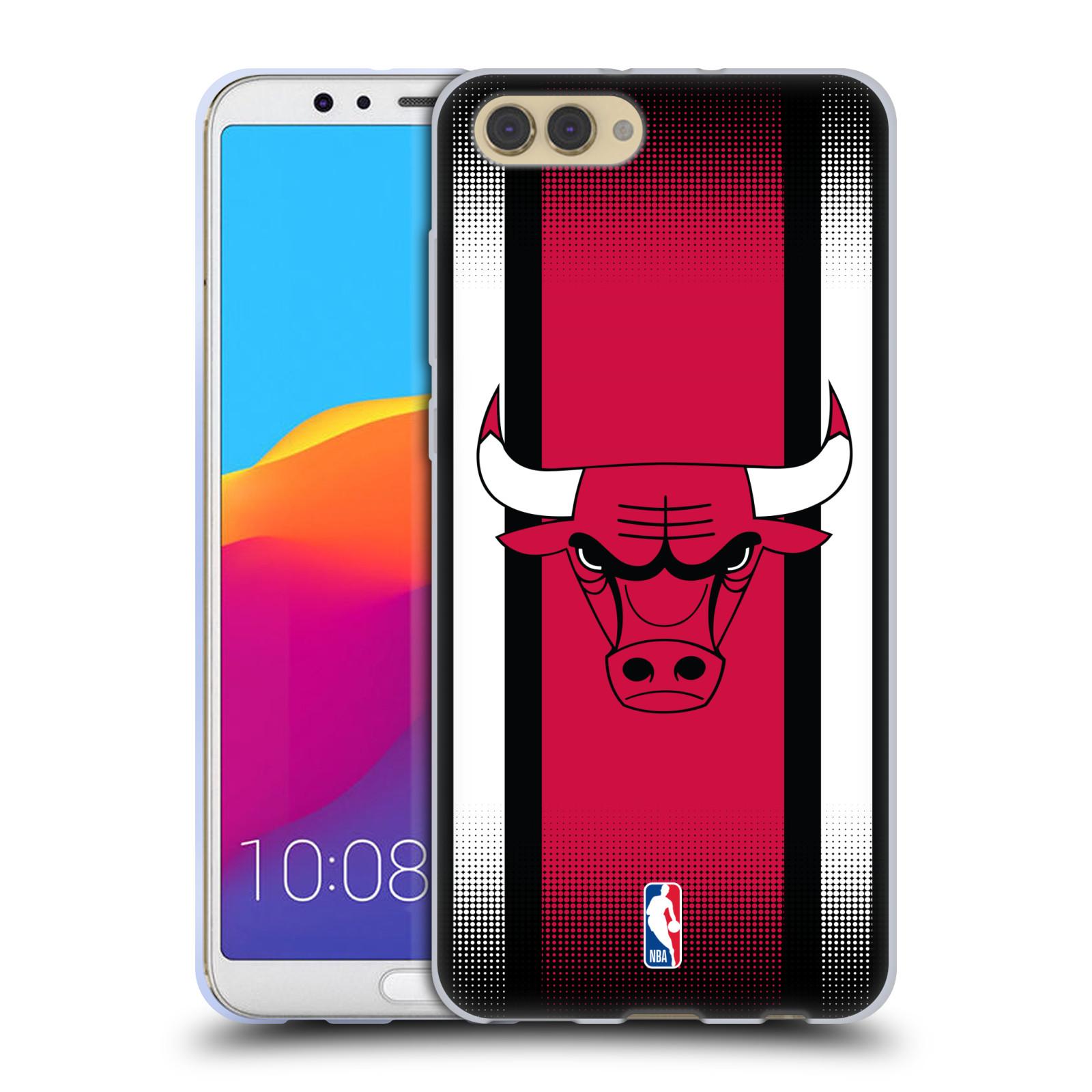 HEAD CASE silikonový obal na mobil Huawei HONOR VIEW 10 / V10 NBA Basketbalový klub Chicago Bulls logo pruhy