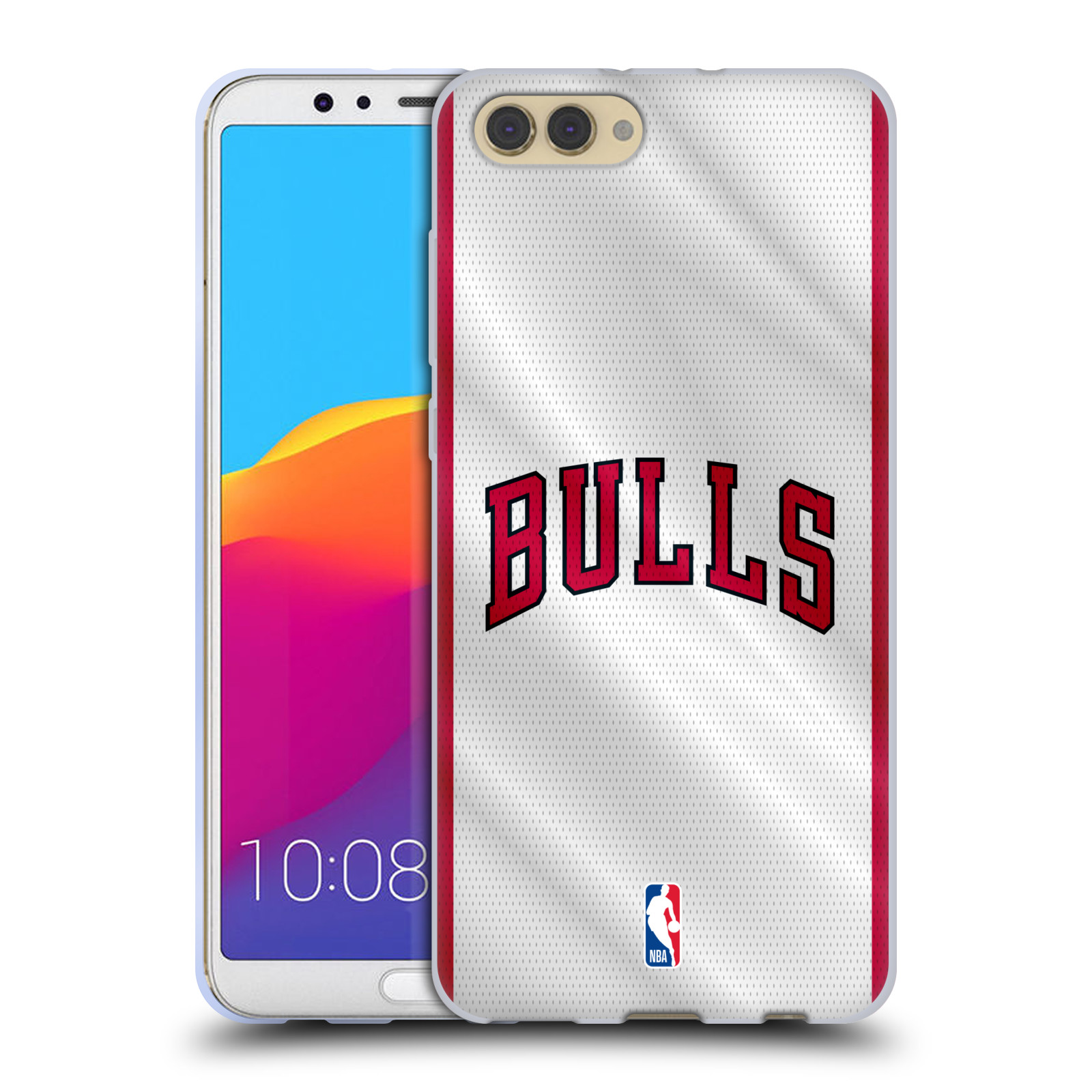 HEAD CASE silikonový obal na mobil Huawei HONOR VIEW 10 / V10 NBA Basketbalový klub Chicago Bulls nápis dres
