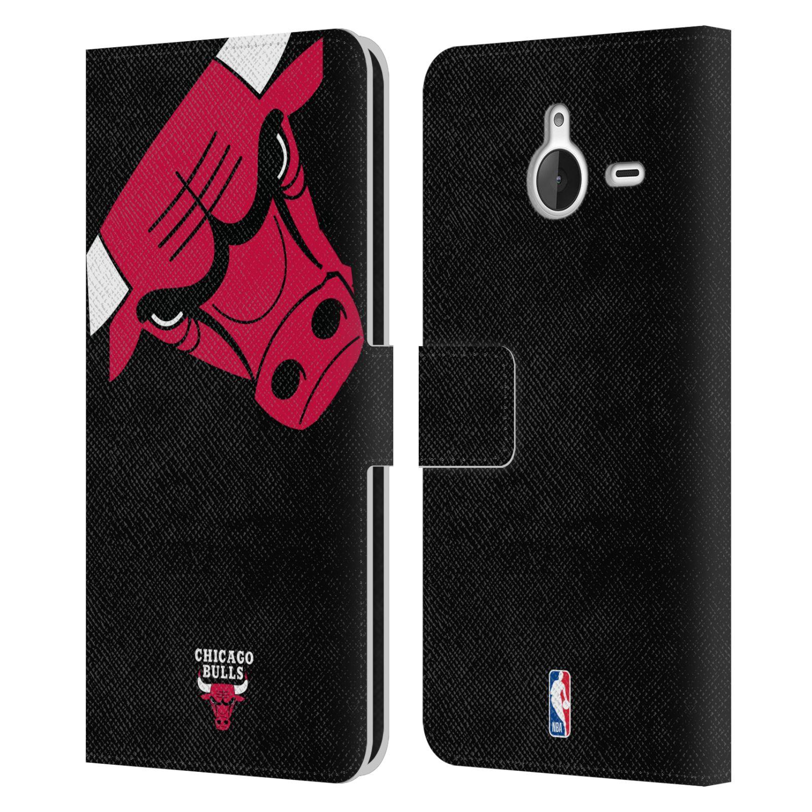 Pouzdro na mobil Nokia Lumia 640 XL - Head Case -NBA - Chicago Bulls červená barva velký znak