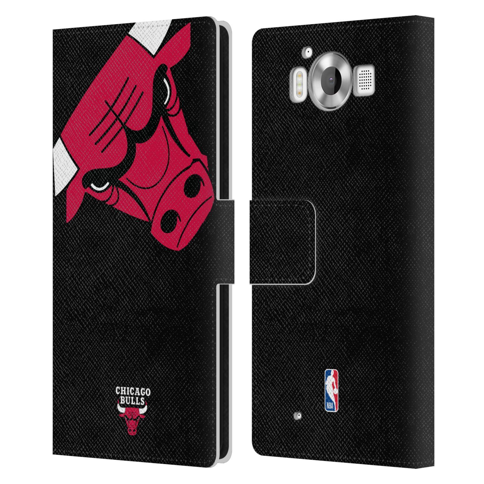 Pouzdro na mobil Nokia Lumia 950 - Head Case -NBA - Chicago Bulls červená barva velký znak