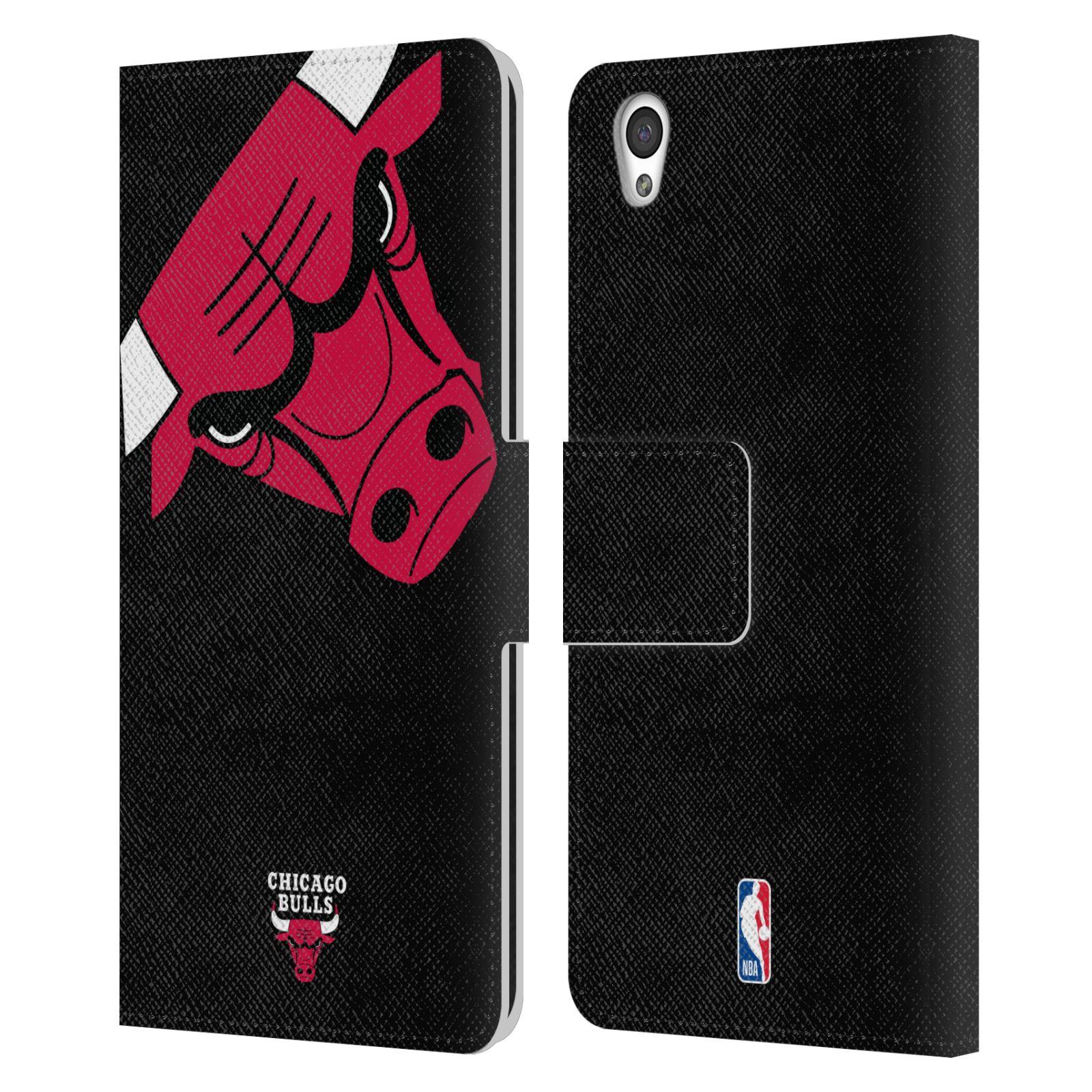 Pouzdro na mobil OnePlus X - Head Case -NBA - Chicago Bulls červená barva velký znak