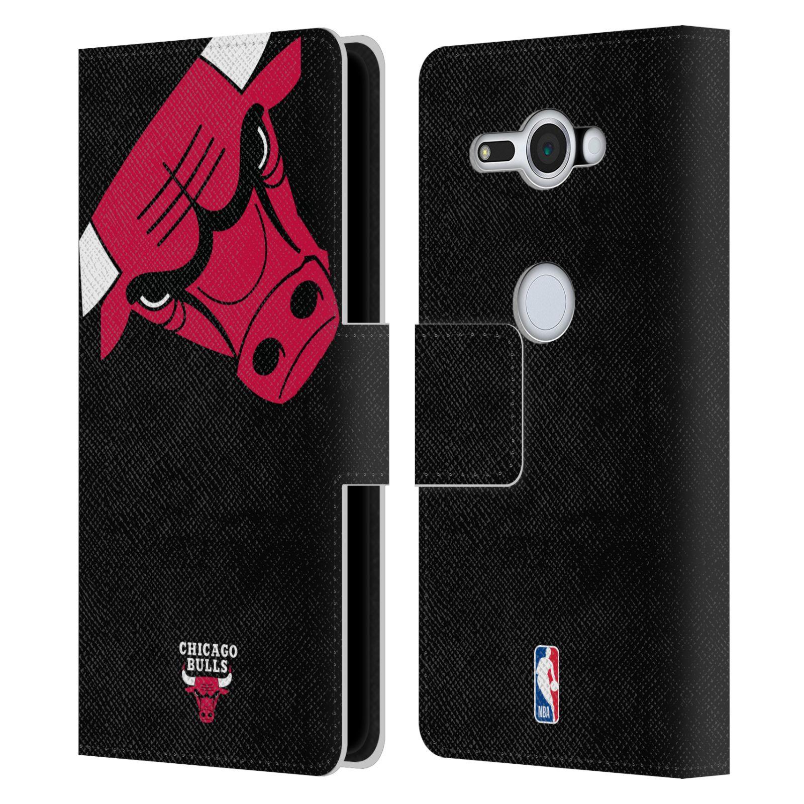 Pouzdro na mobil Sony Xperia XZ2 Compact - Head Case -NBA - Chicago Bulls červená barva velký znak