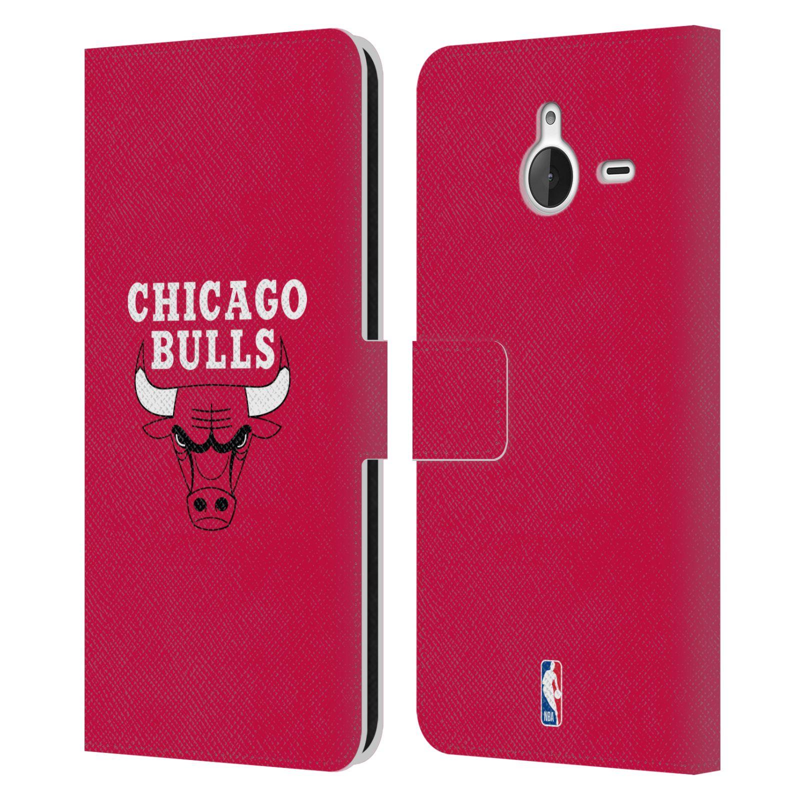 Pouzdro na mobil Nokia Lumia 640 XL - Head Case -NBA - Chicago Bulls červená barva znak