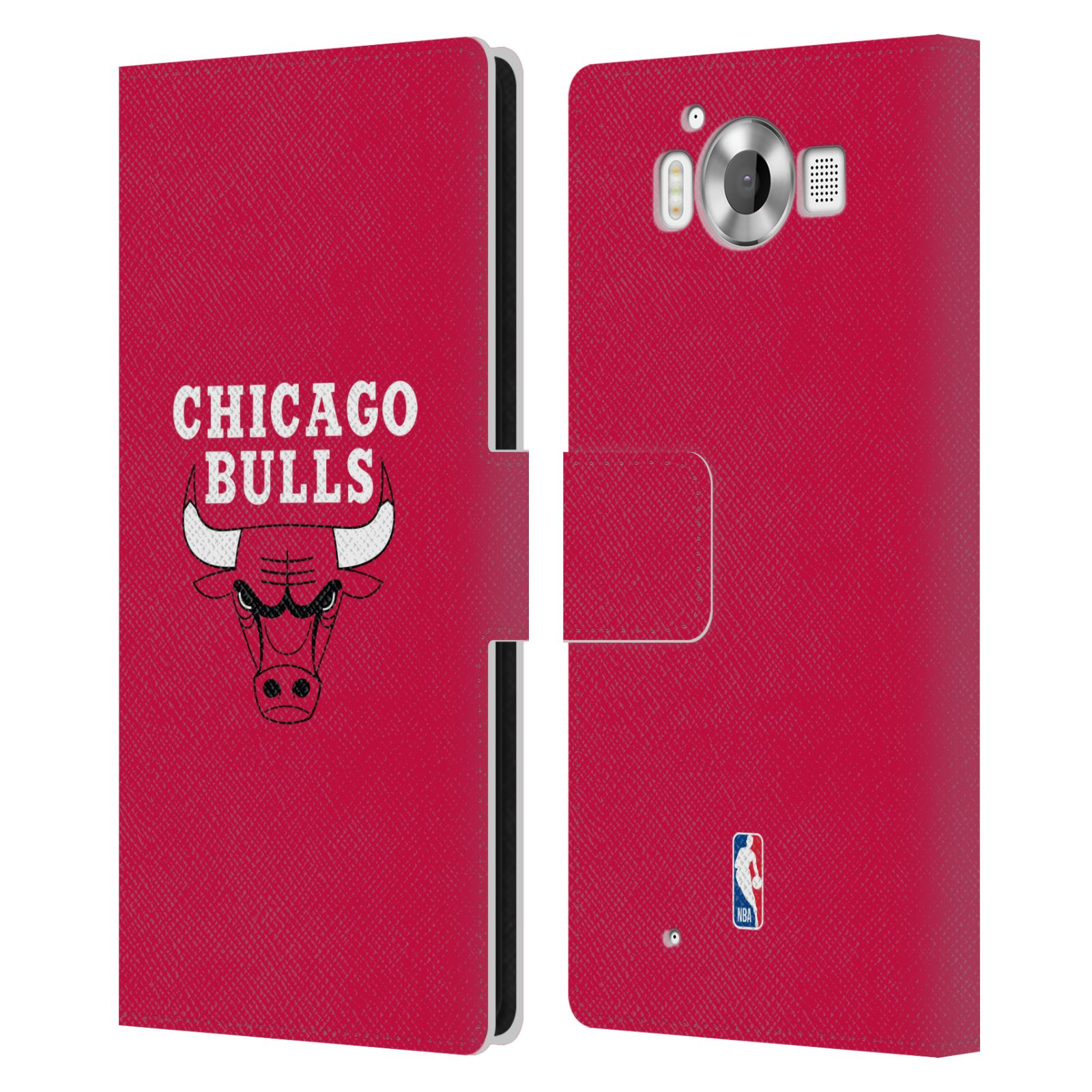 Pouzdro na mobil Nokia Lumia 950 - Head Case -NBA - Chicago Bulls červená barva znak