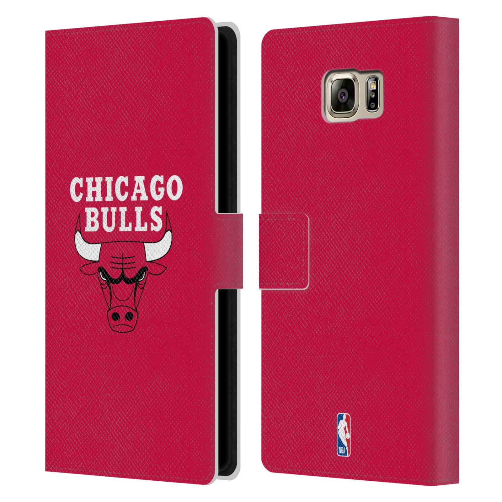Pouzdro na mobil Samsung Galaxy NOTE 5 - Head Case -NBA - Chicago Bulls červená barva znak